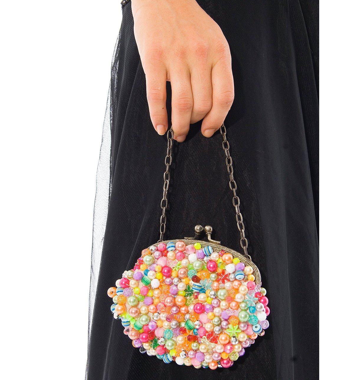 Pearl Confetti Beaded Bag