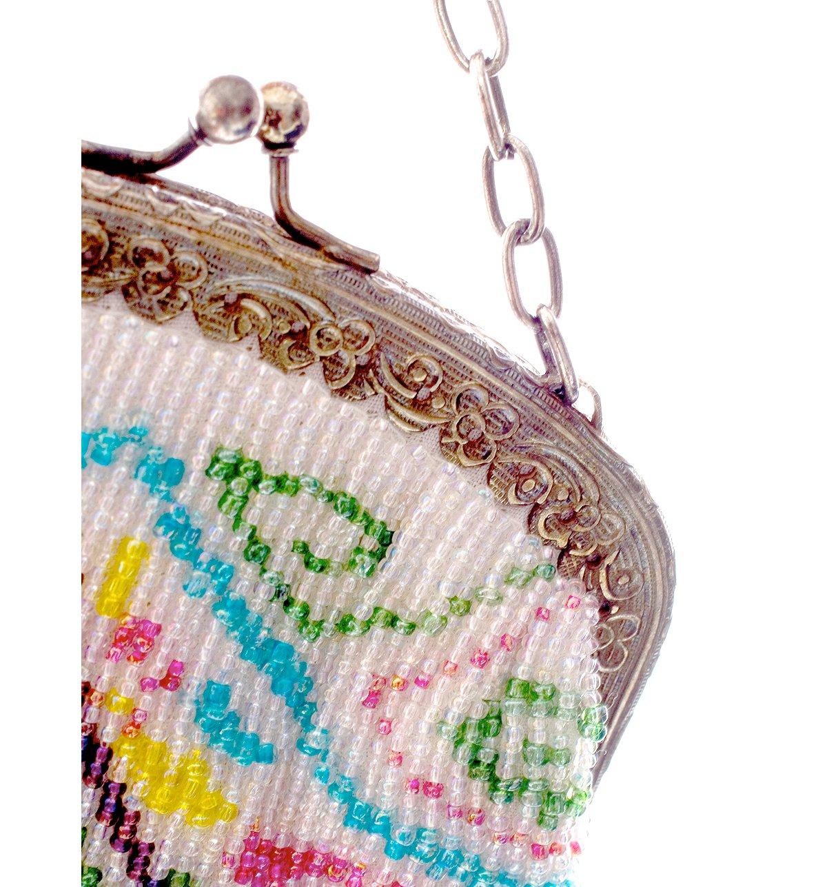 Flapper Fringe Bead Bag