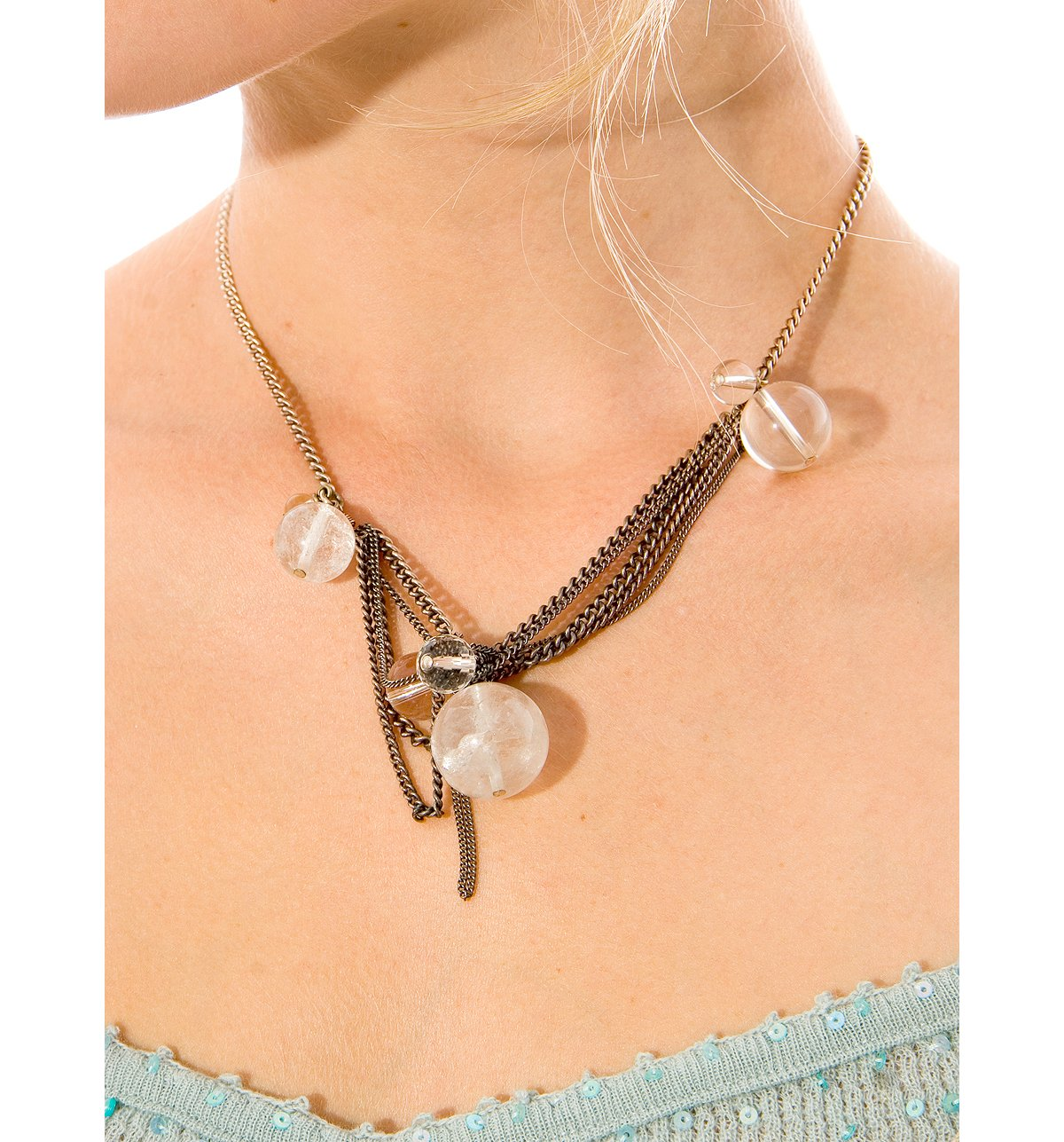 Kirt Holmes Rock Crystal Bauble Chain Necklace