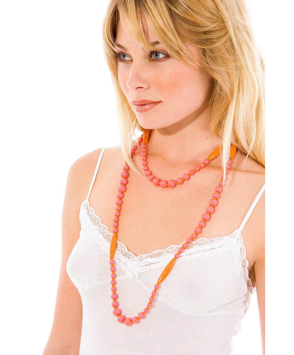 --Long Bone & Bead Necklace
