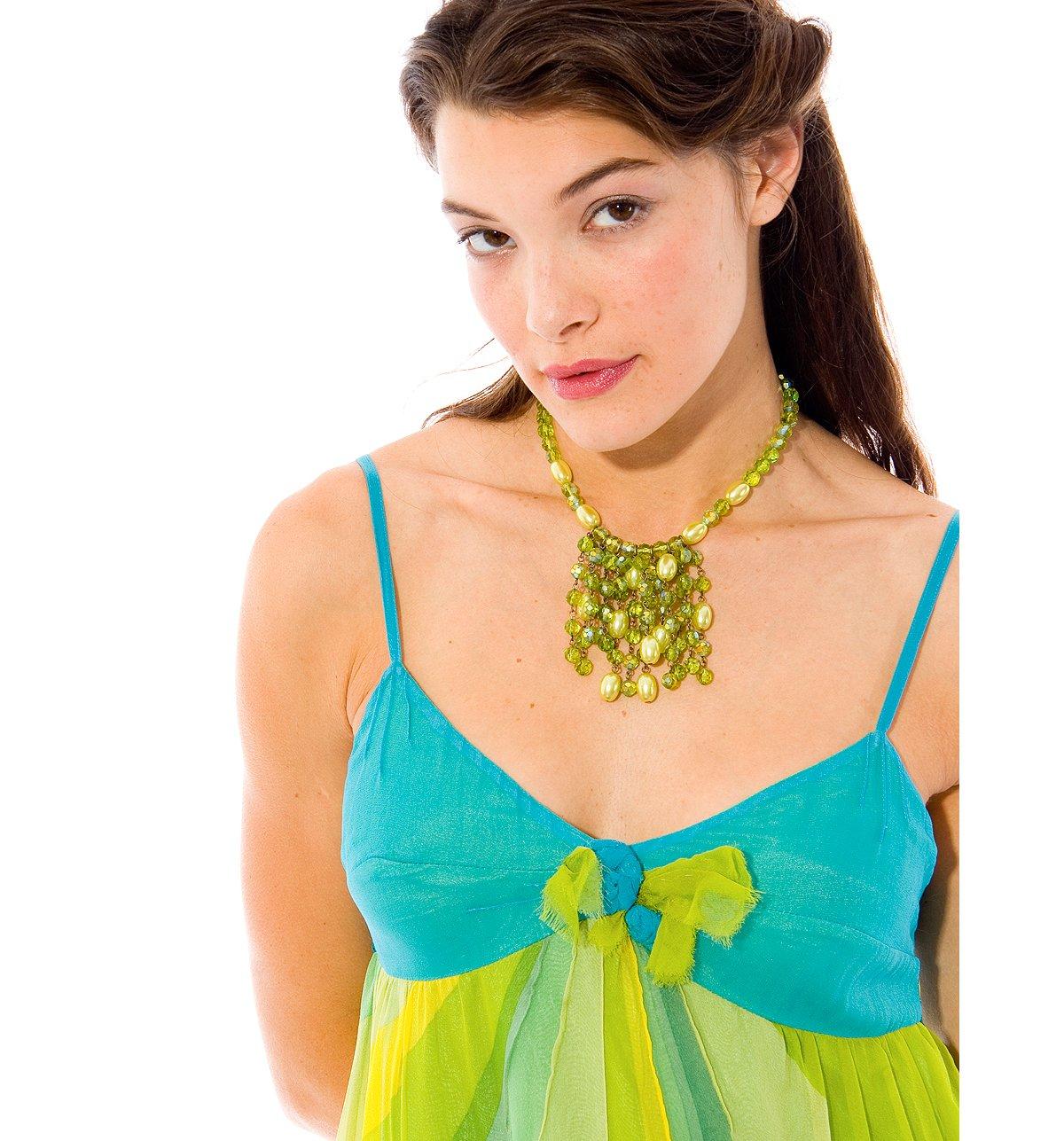 --Silk Rose Dress