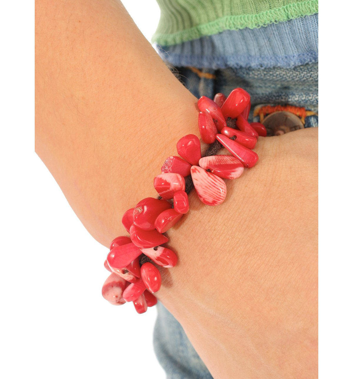 Stone Crochet Bracelet