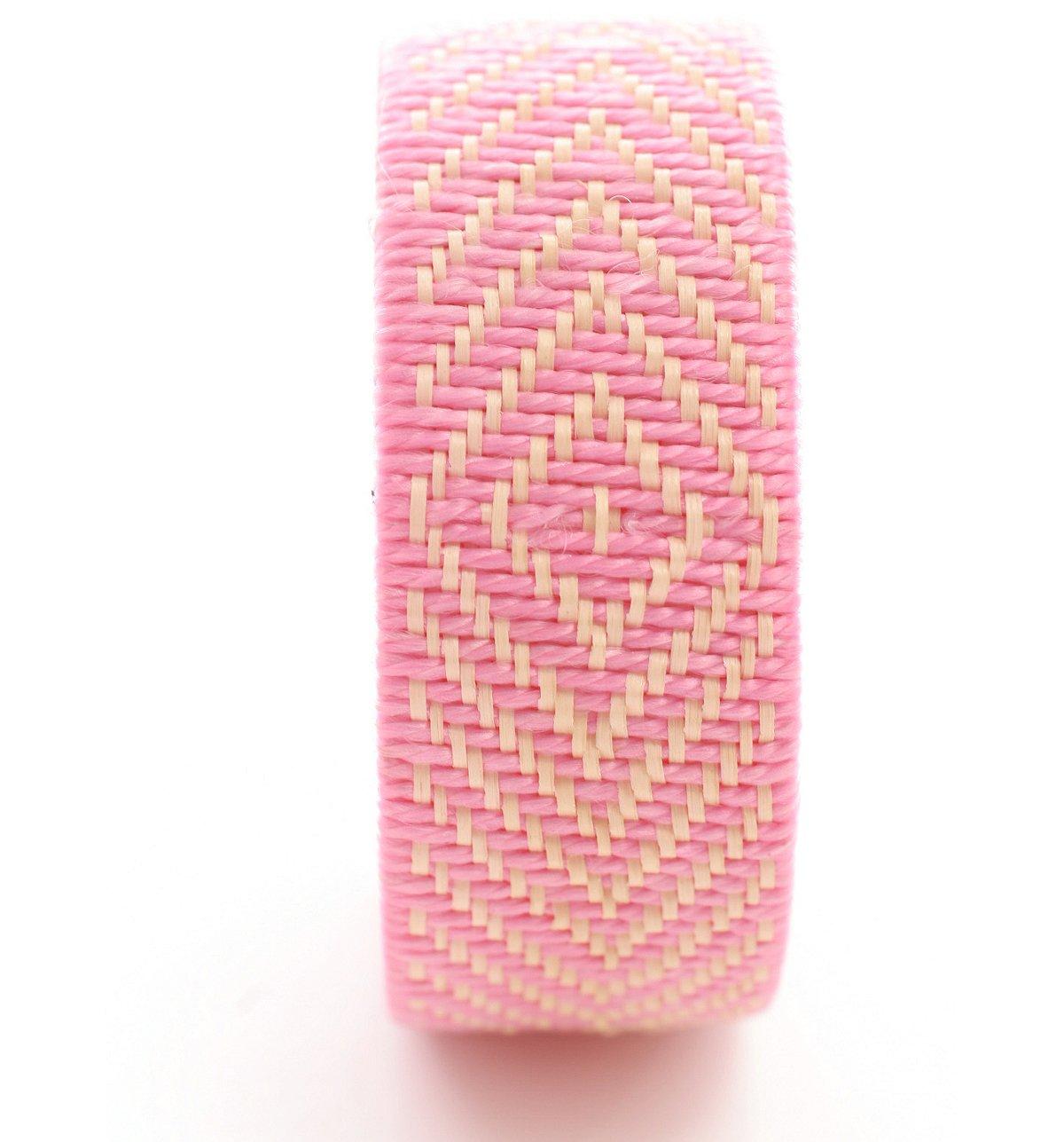 Natural Woven Wide Bracelet