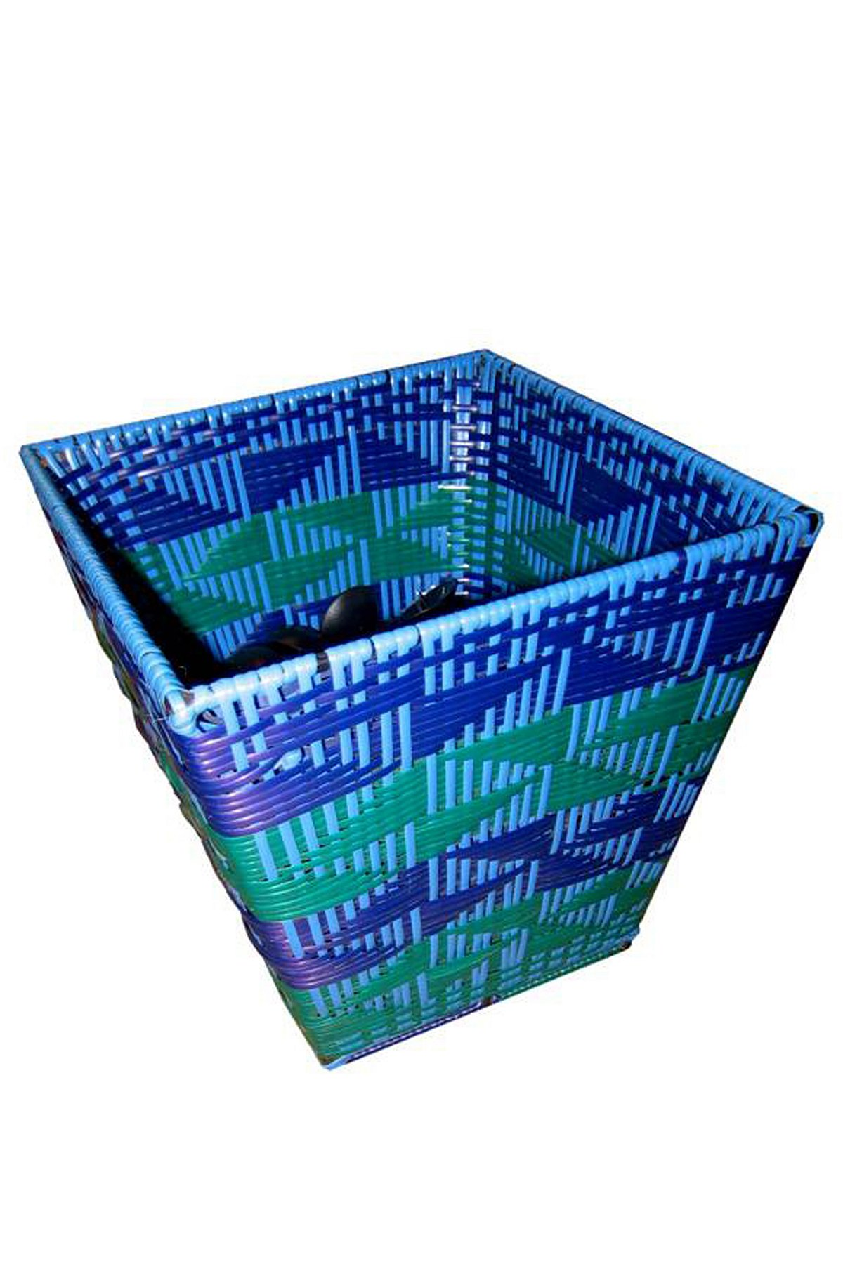 Caned Plastic Dustbin