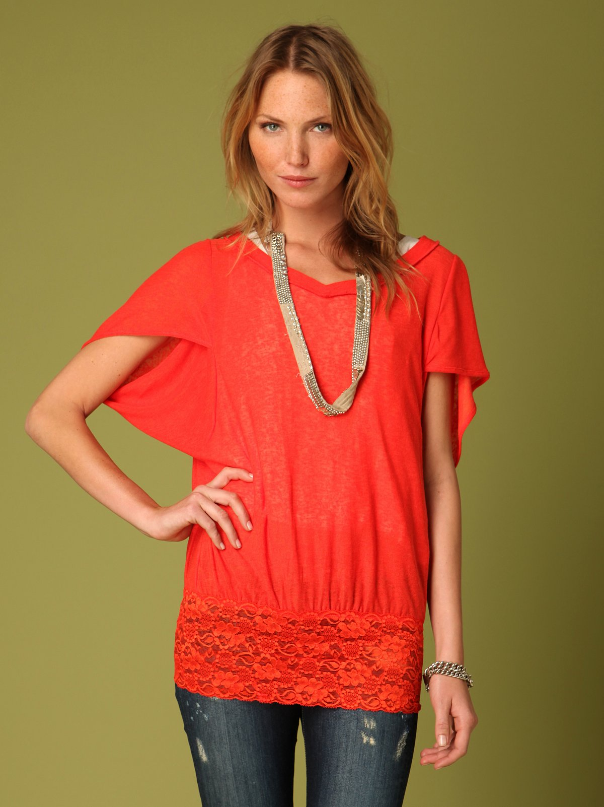 Lace Bottom Tunic