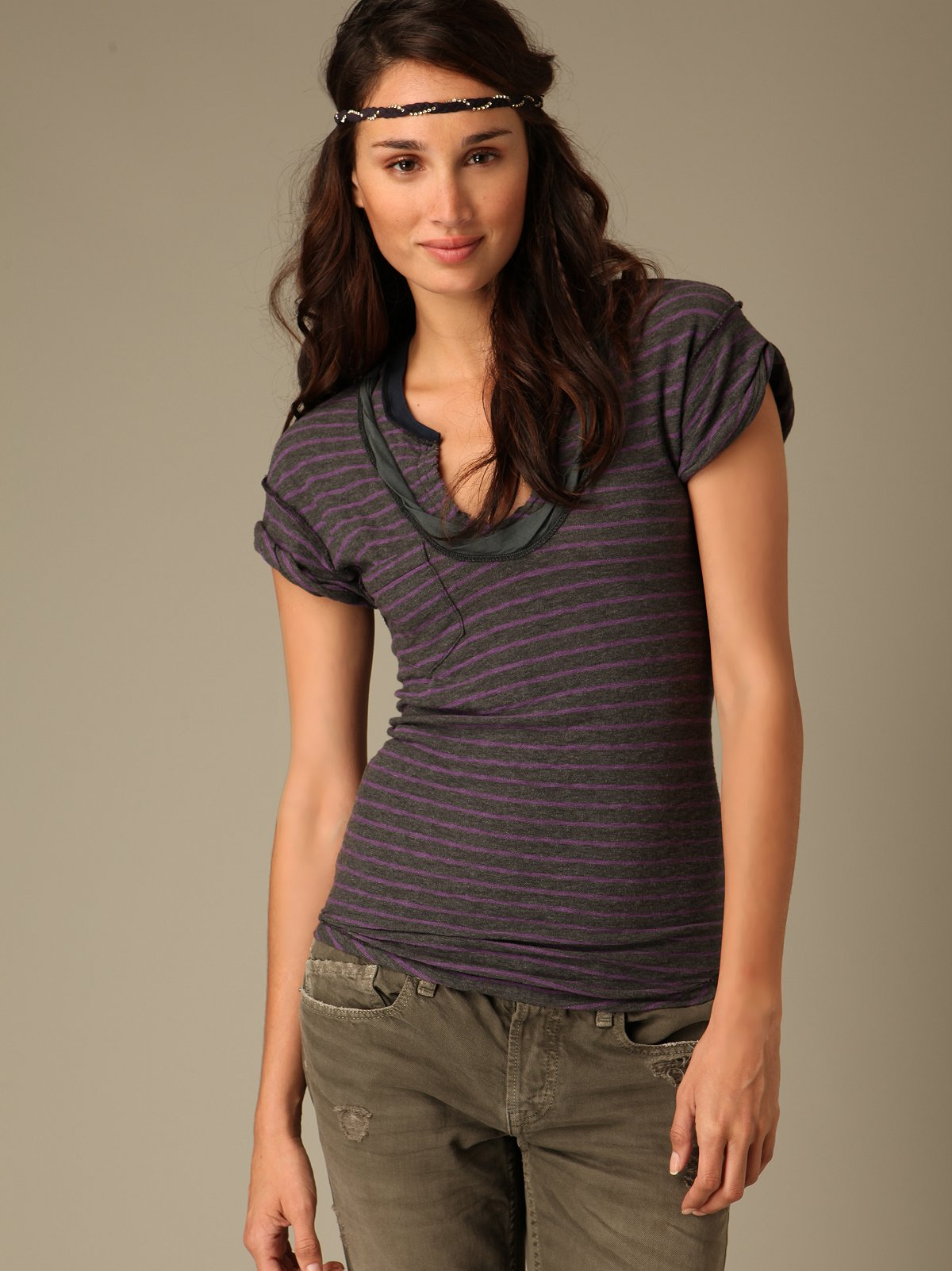 Striped Rough & Tough Muscle Tee
