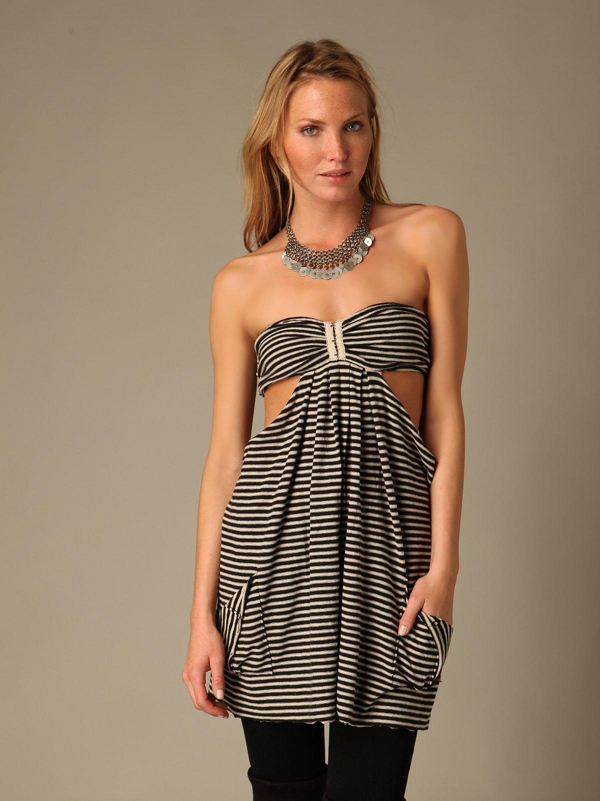 We The Free Stripe Cutout Tube Dress