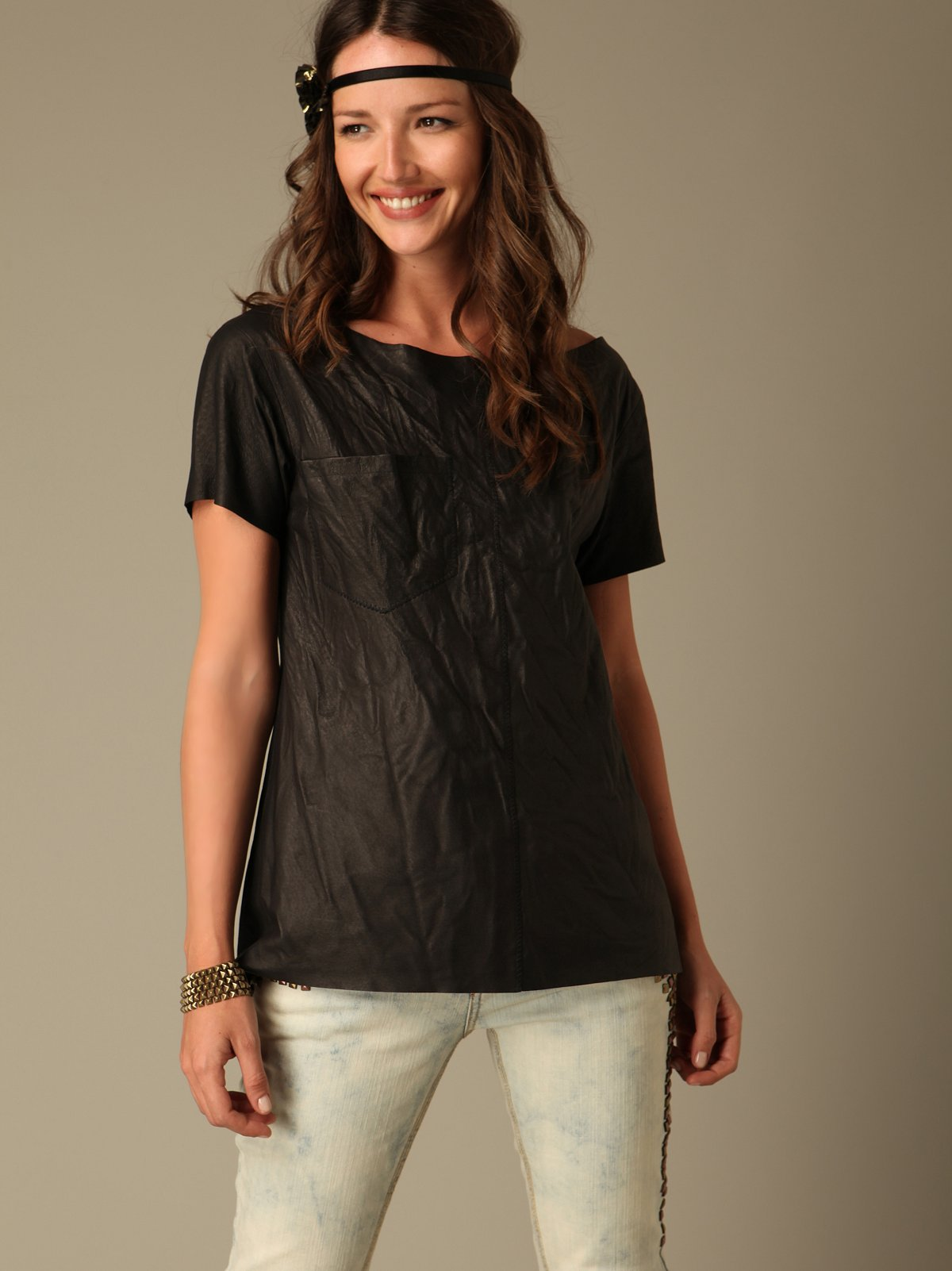 Dark Star Leather Tee