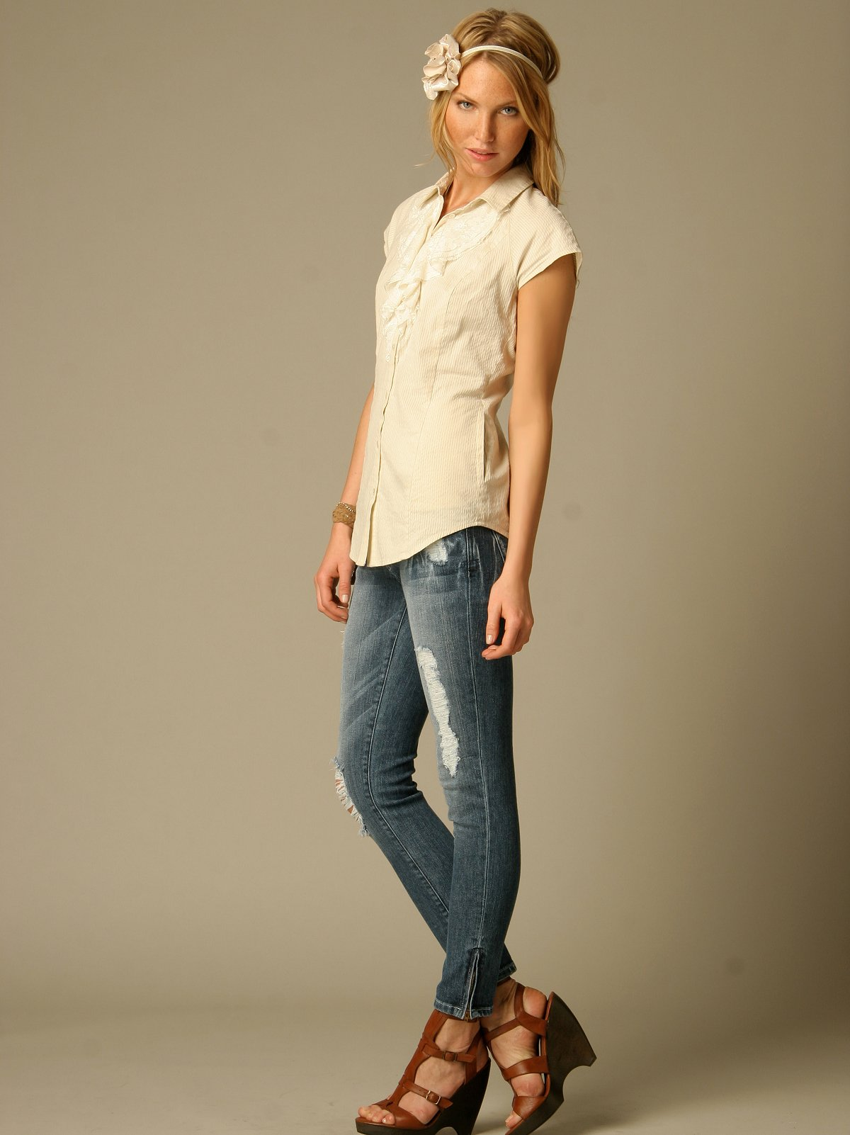 Dylan George Lucy Zip Jeans