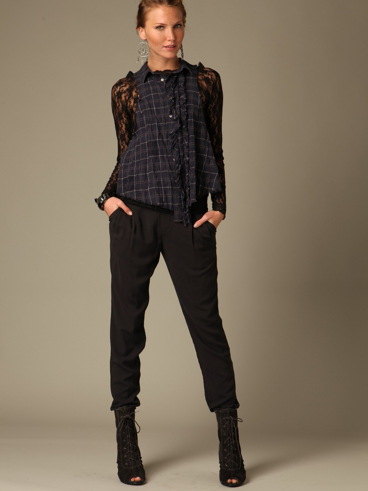 Pleated Skinny Trouser