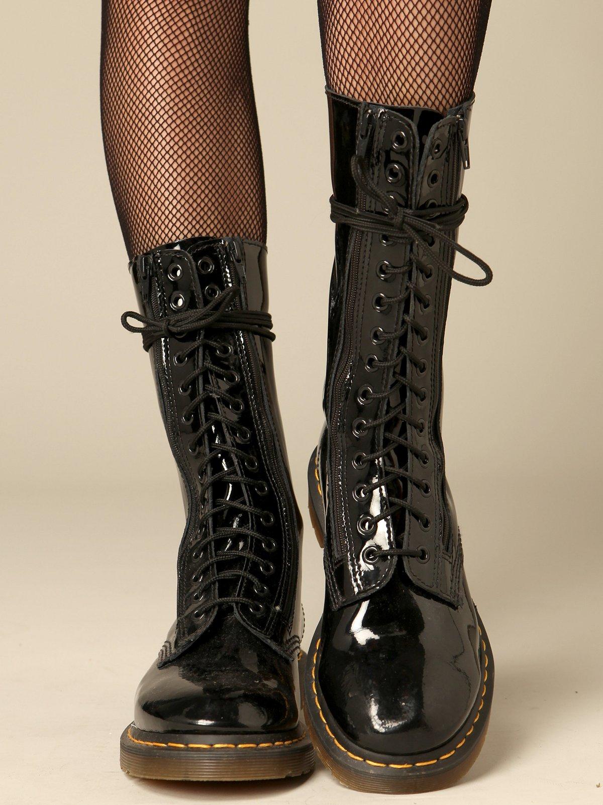 Fourteen Eye Zipper Boot by Dr. Martens