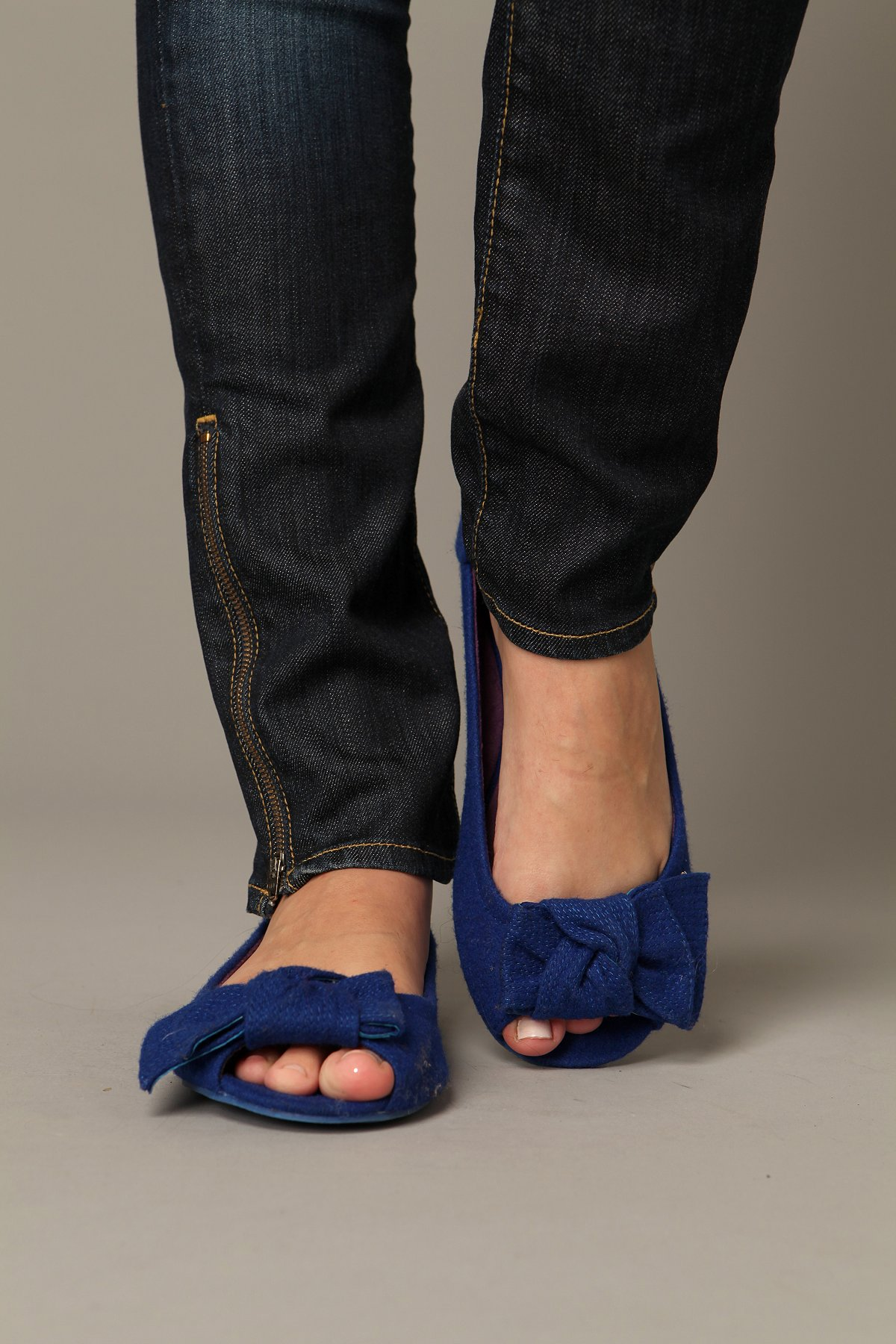 Knotted Flannel Peep Toe