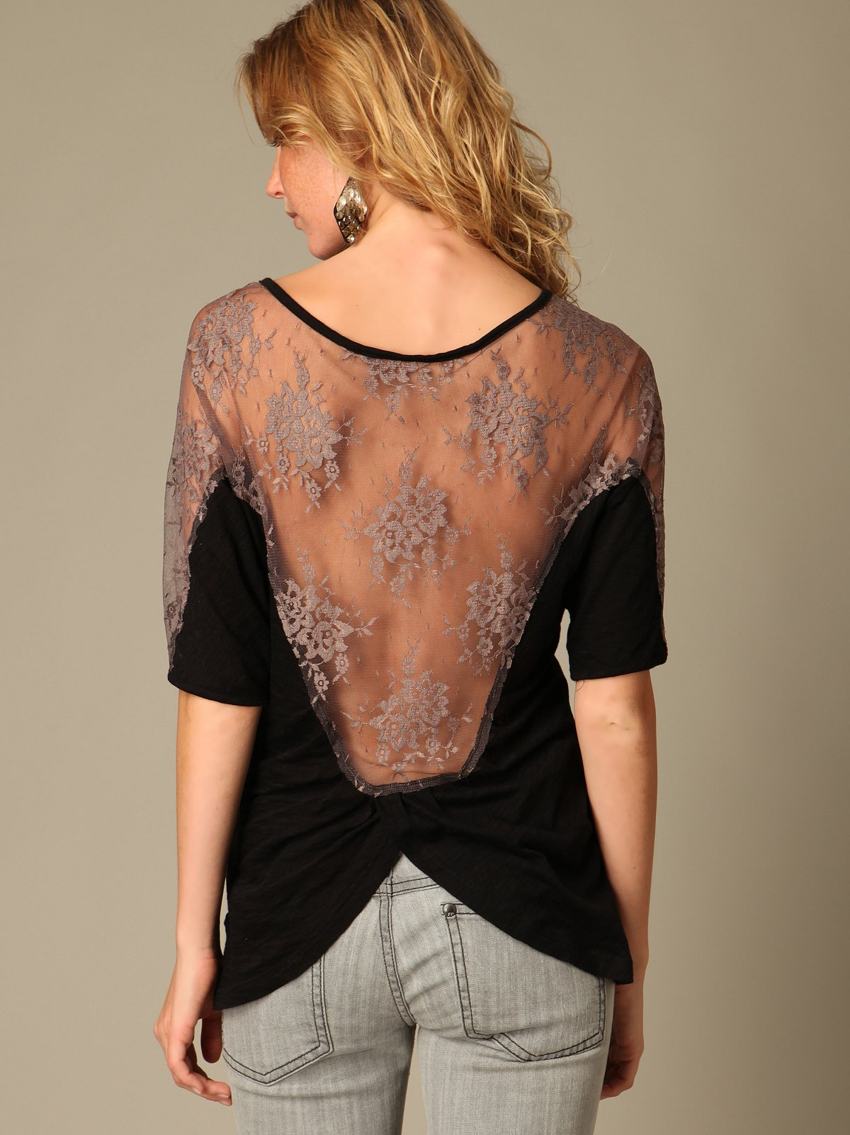 Missing You Back Lace Top