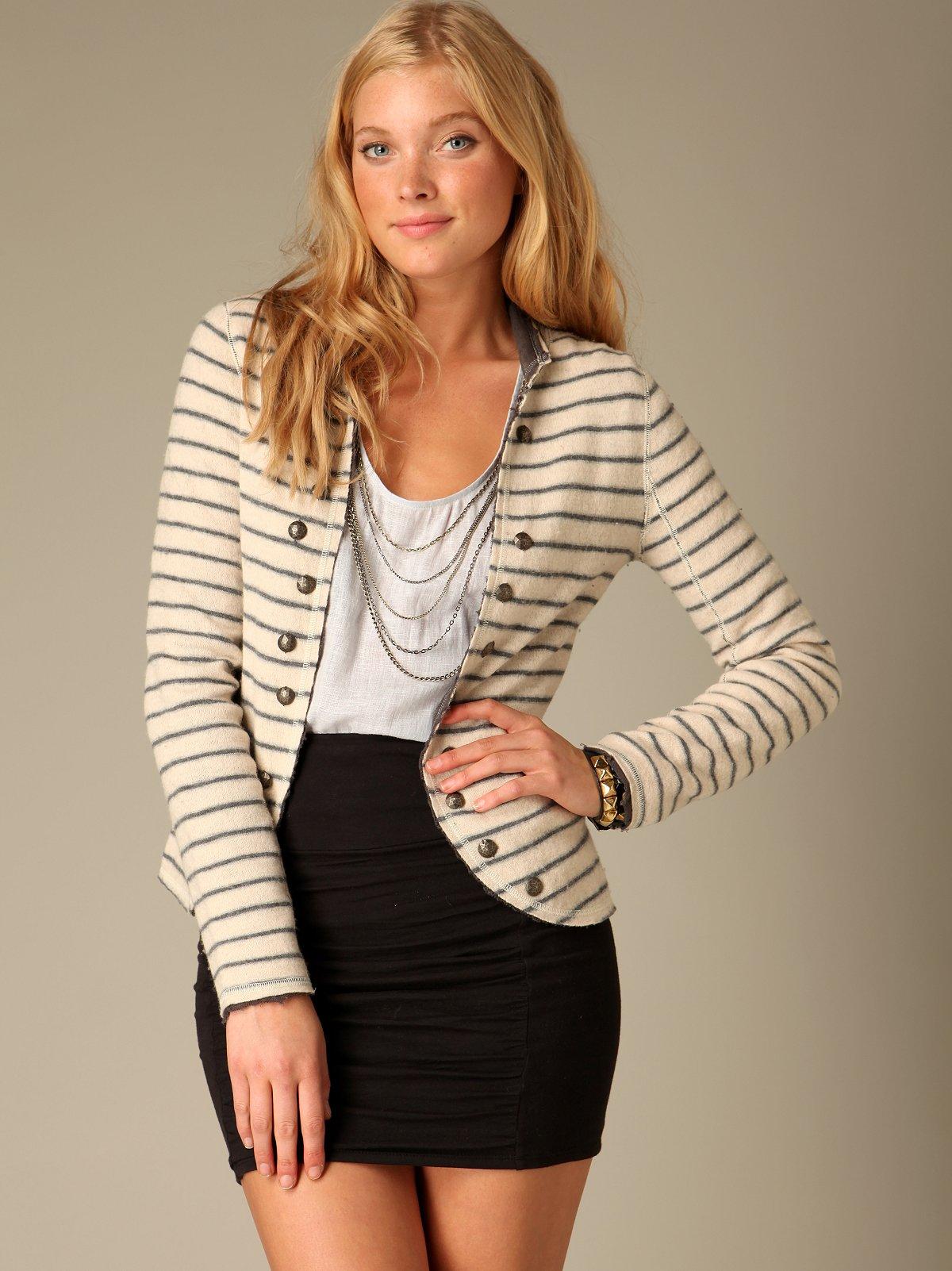 Studded Stripe Blazer