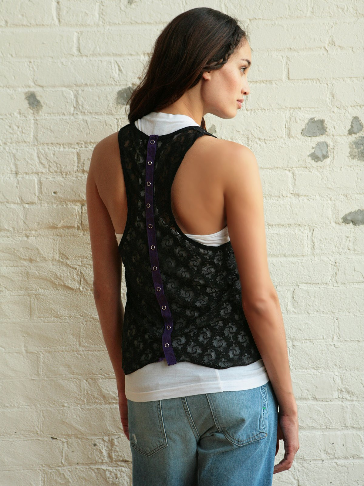 We The Free Lace Pocket Tank