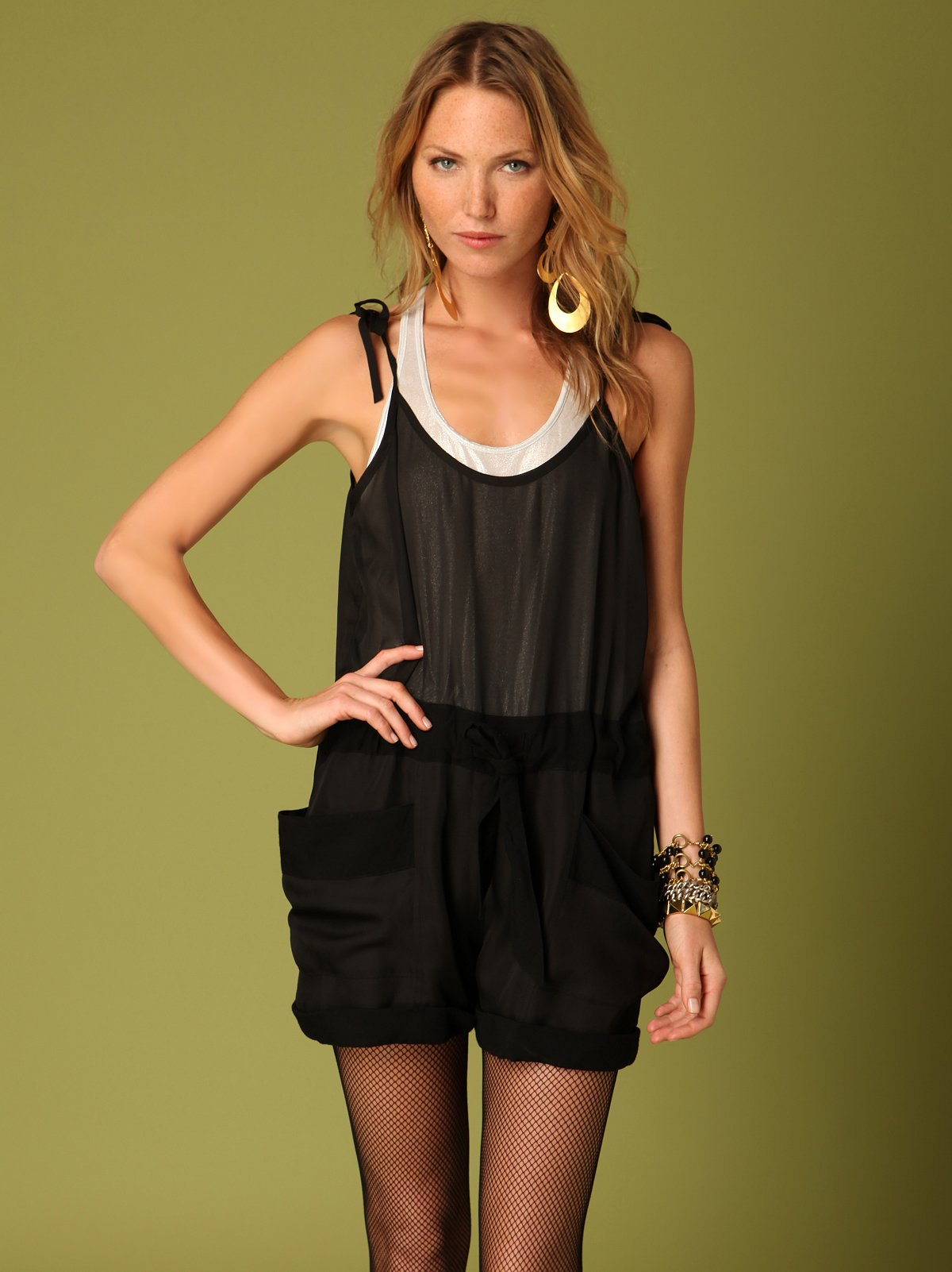 Sheer Pocket Romper