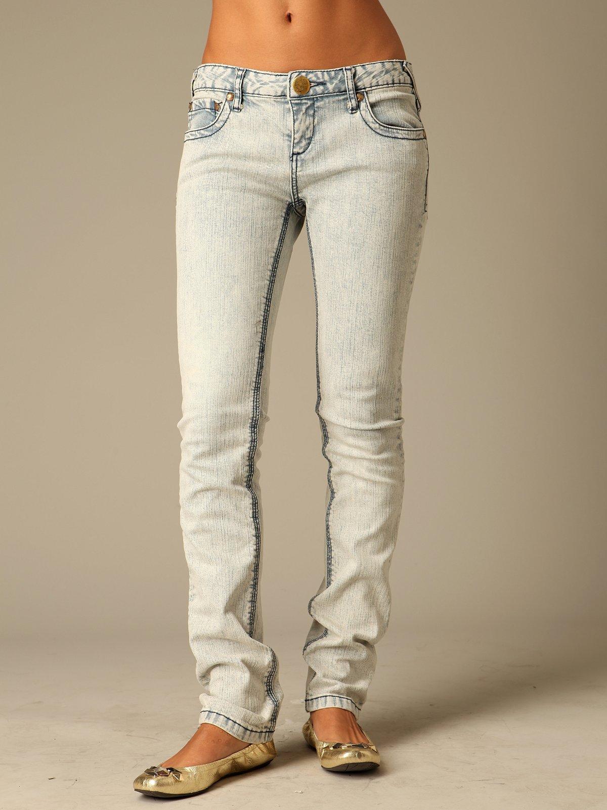 FP Acid Wash Skinny Jeans