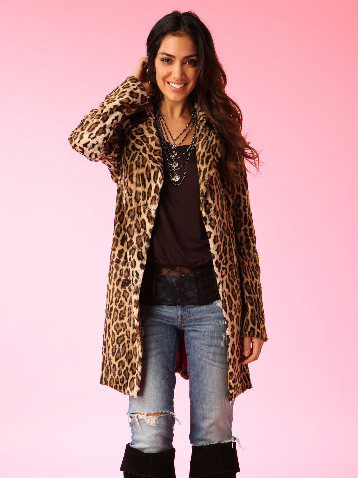 Graham & Spencer Leopard Coat