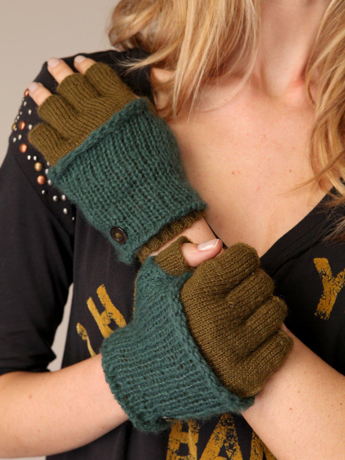 Layered Fingerless Gloves