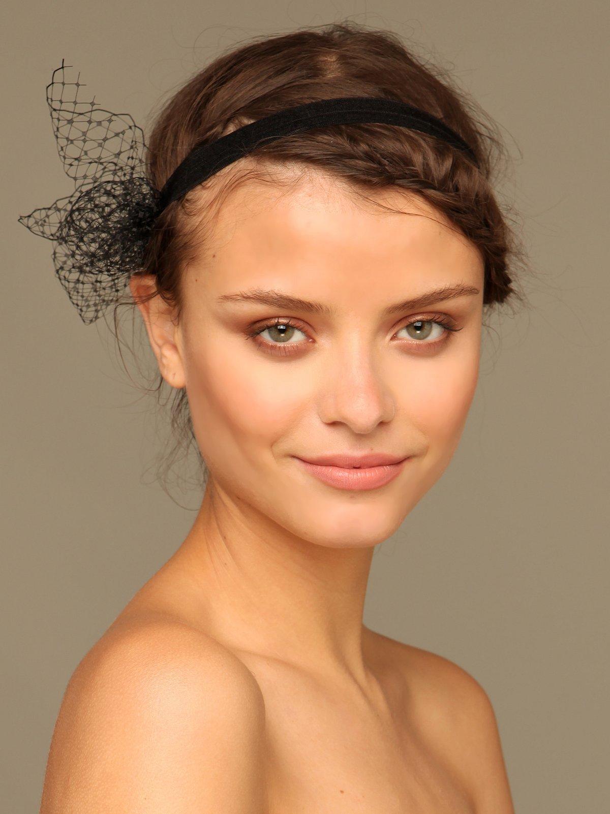 Netting Bow Headband