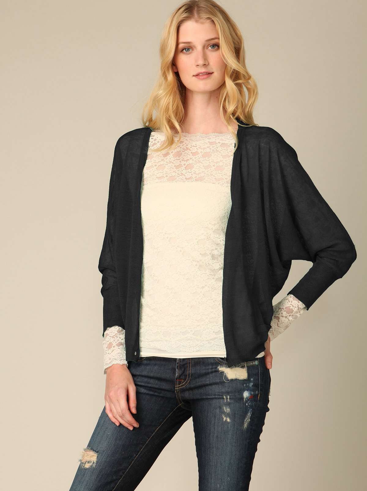 Sheer Dolman Sweater