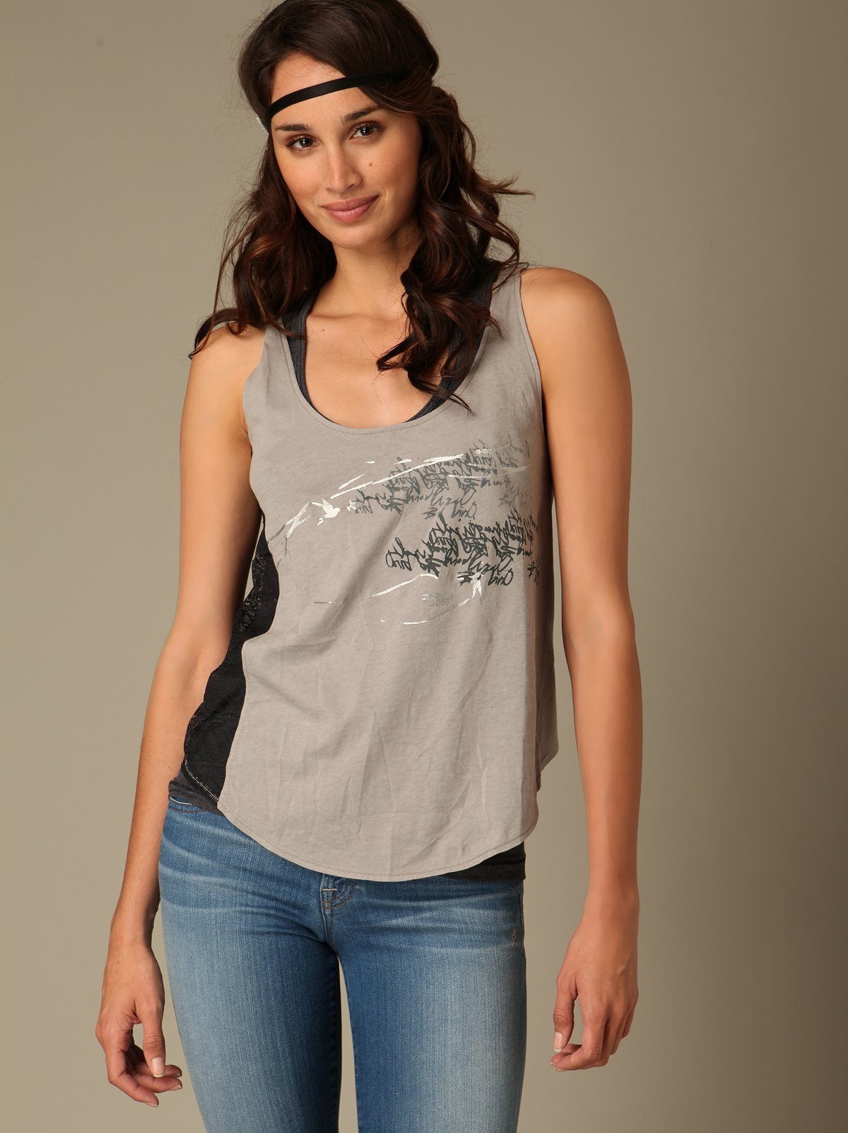 Reversible Lace Patch Tank