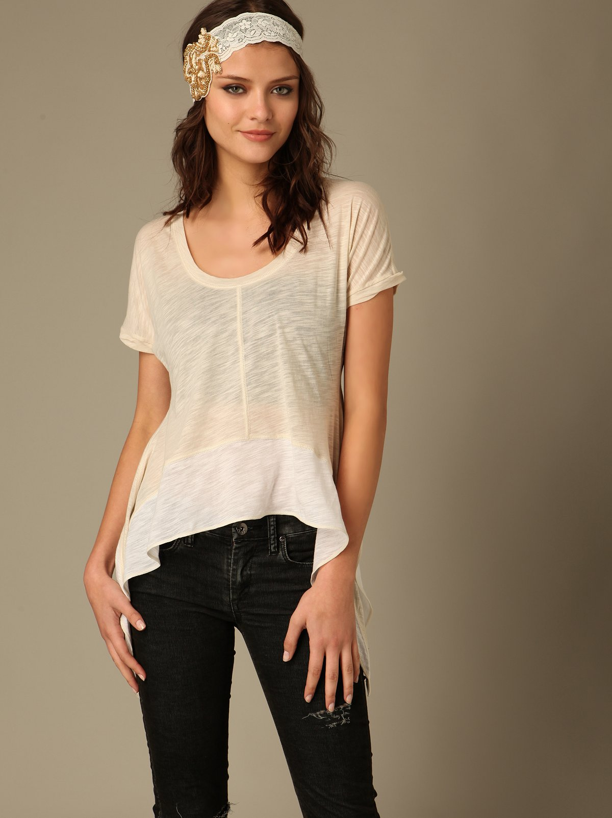 We The Free Drifter Lace Back Tee