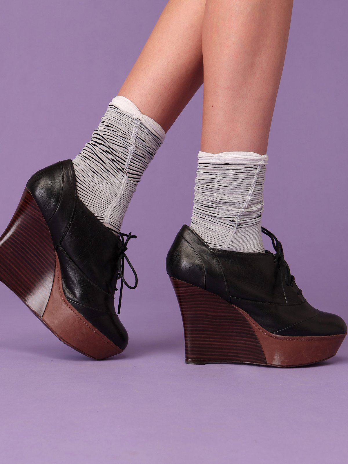 Striped Rouched Socks by Emilio Cavallini