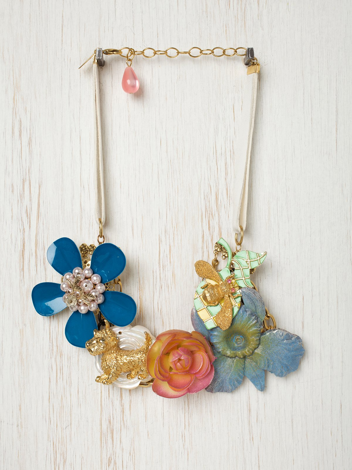 One of a Kind Vintage Flower Necklace