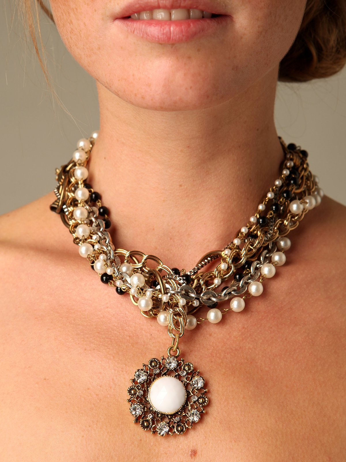Pearl & Chain Nested Necklace