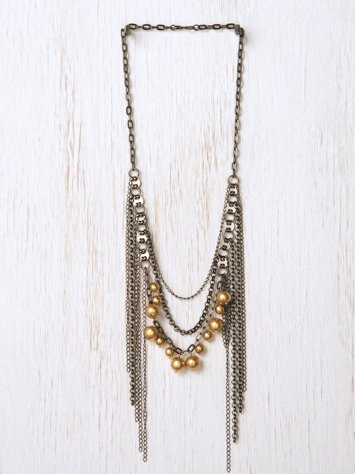 Dripping Gold Pearl Necklace