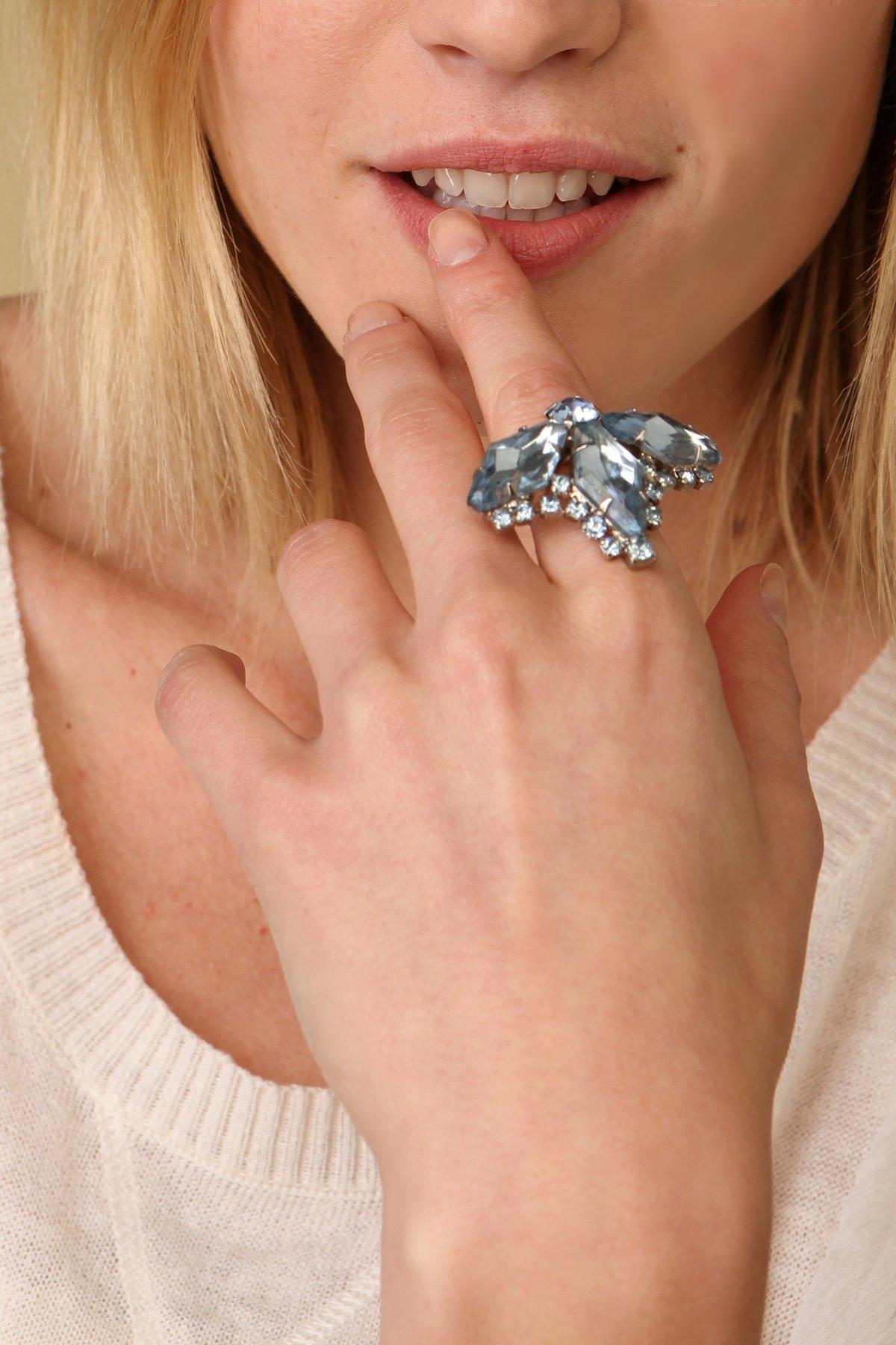 Vintage Crystal Cocktail Ring