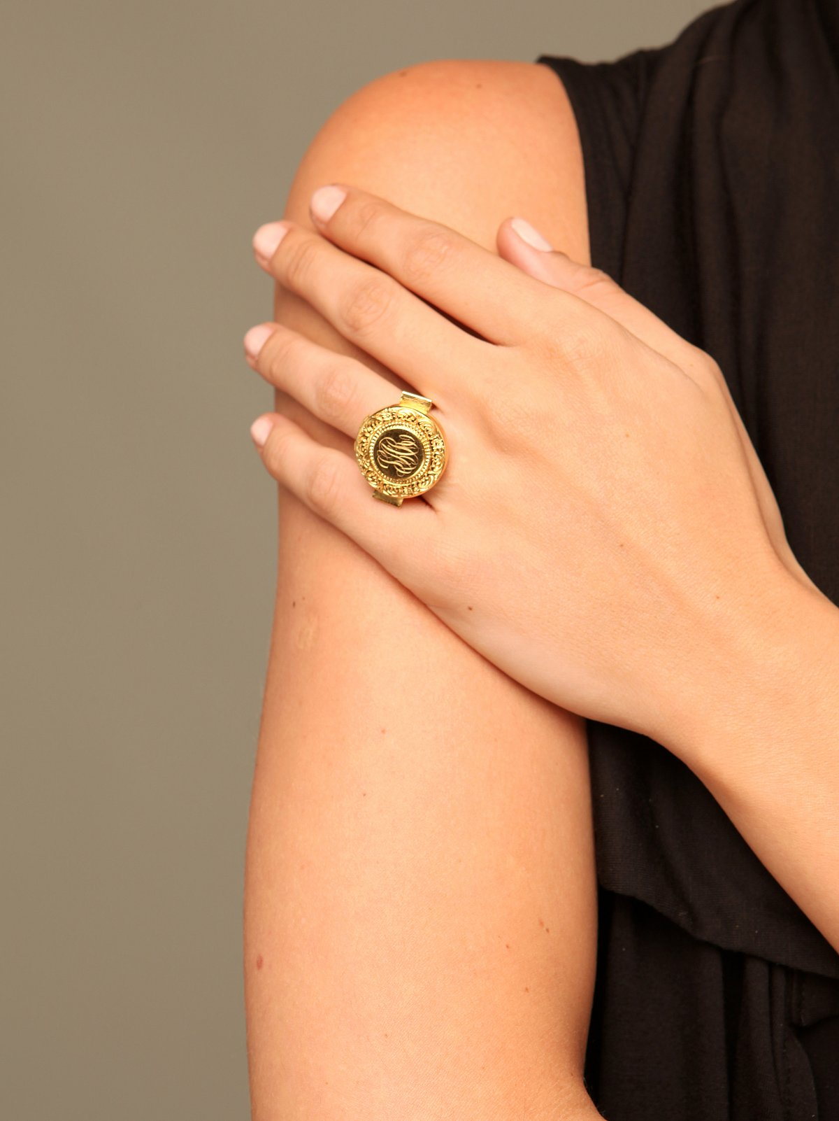 Vintage Locket Cocktail Ring