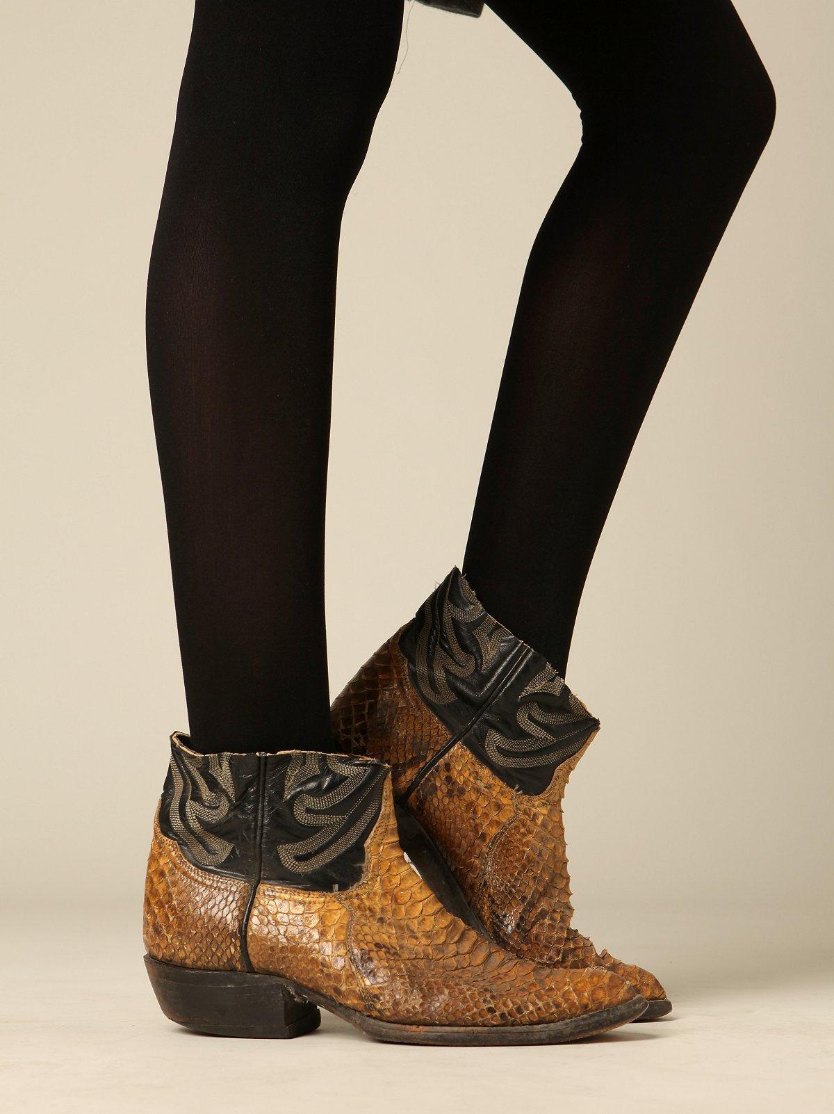 Vintage Cutoff Snake Boots