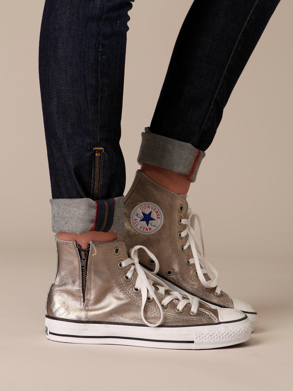 Metallic Zipper Converse