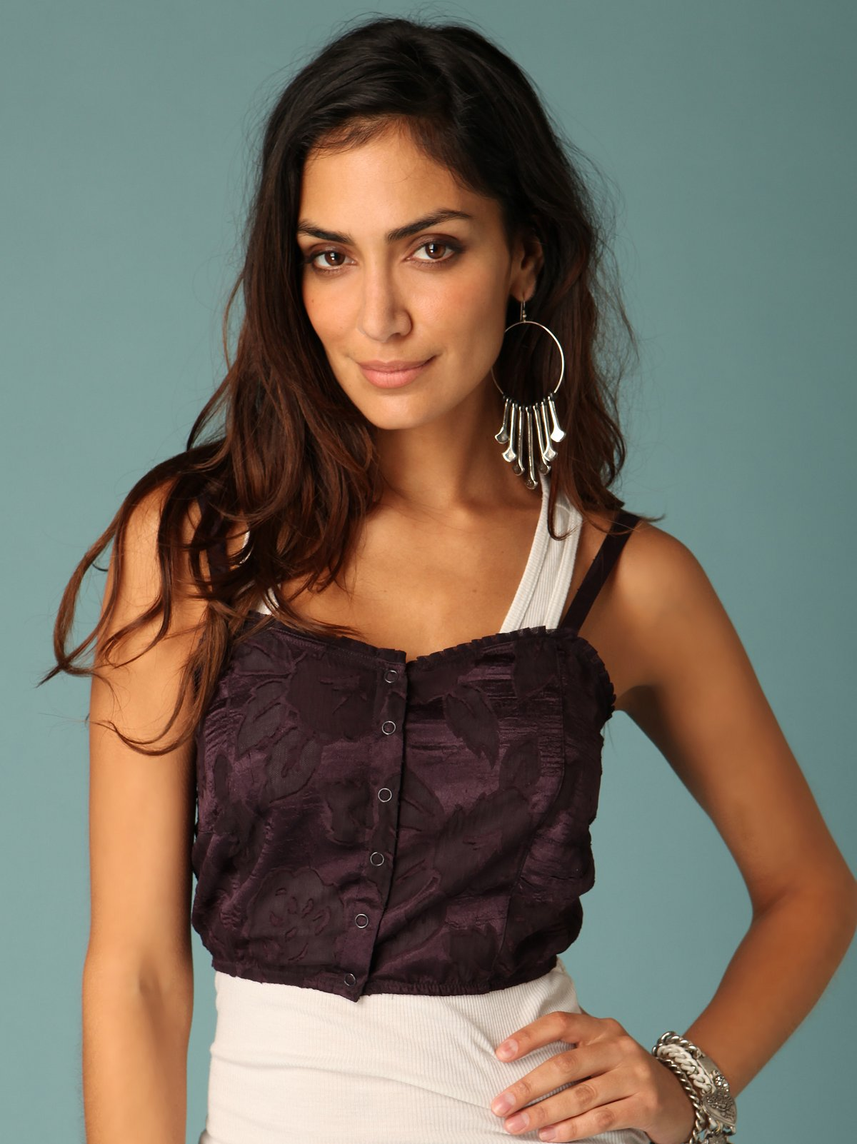 Cropped Snap Front Cami