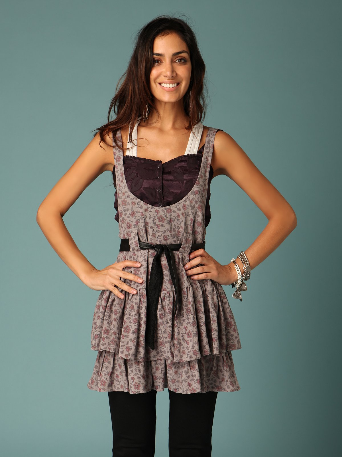Ruffled Suspender Skirt