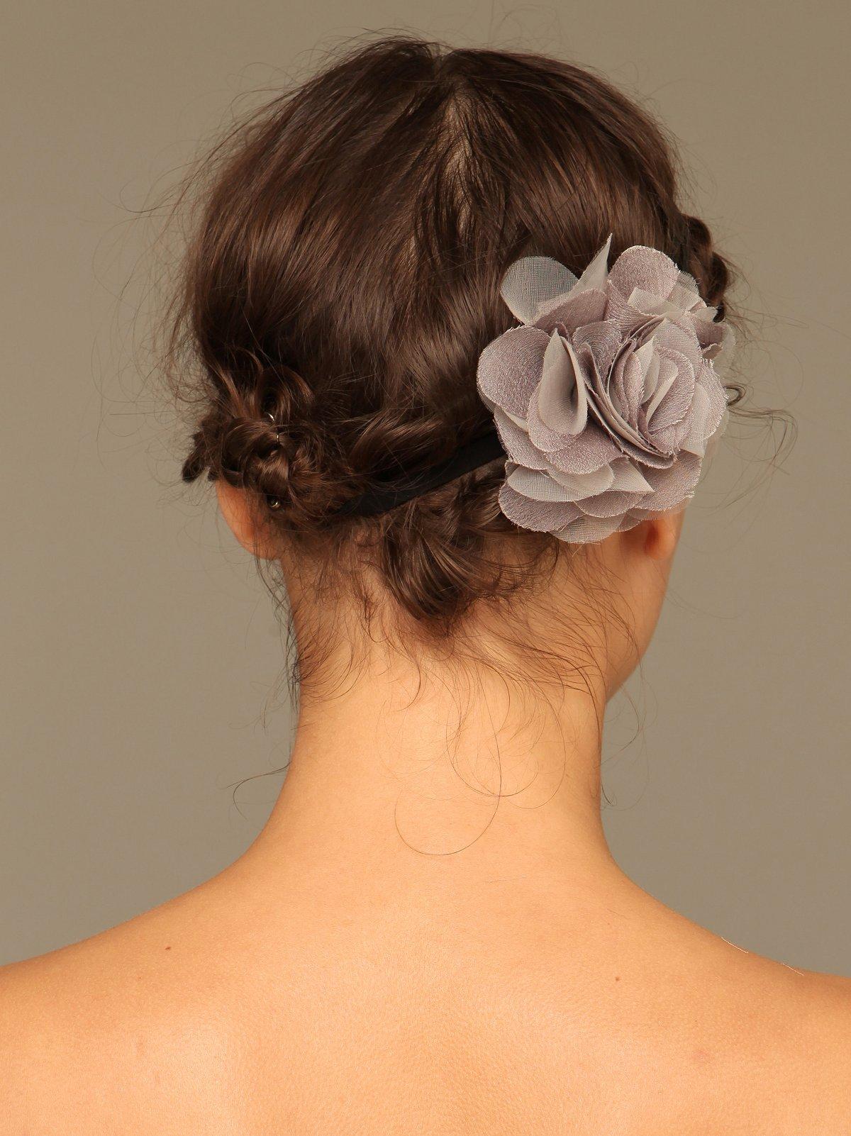 Silk Flower Elastic Headband
