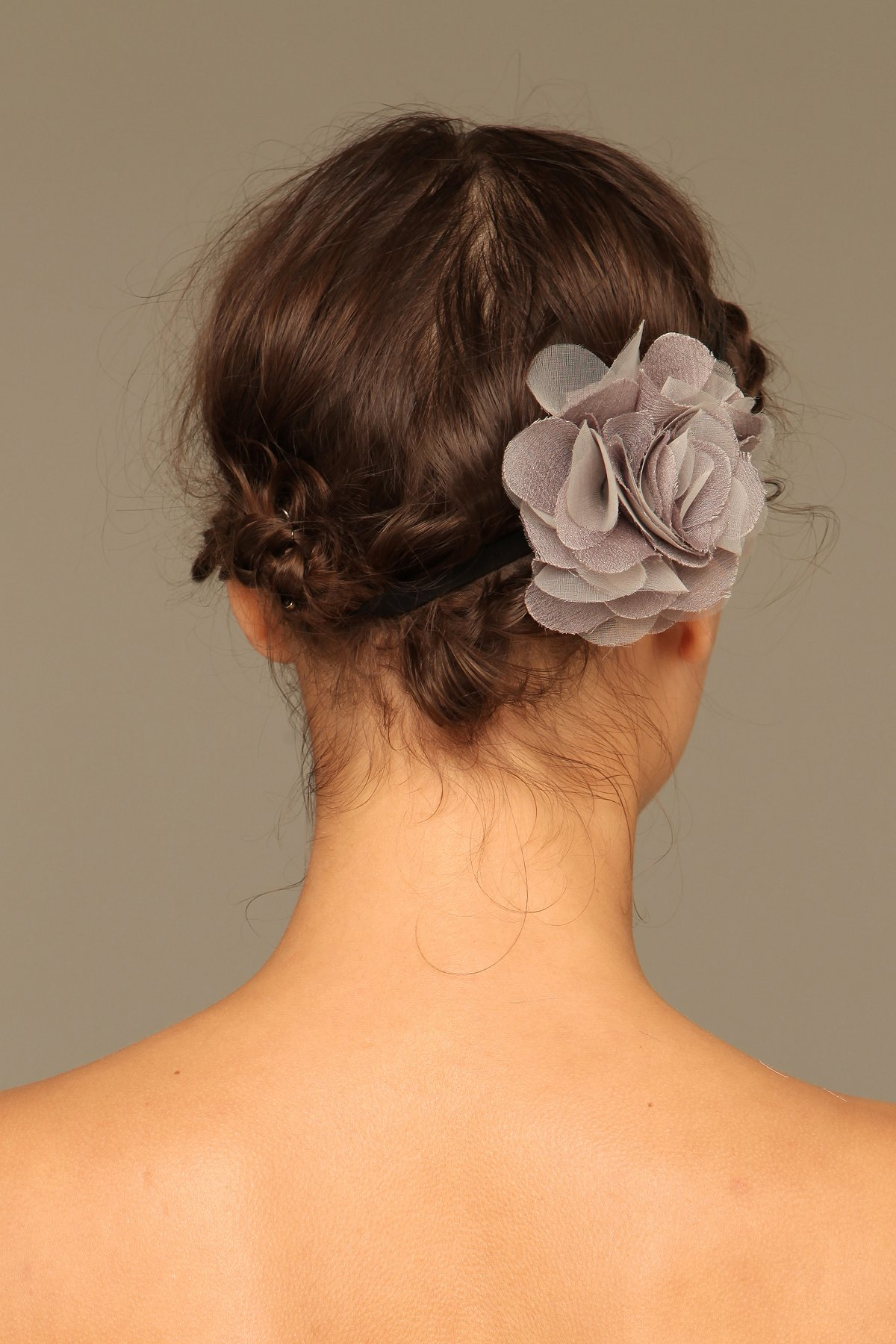 Silk Flower Elastic Headband