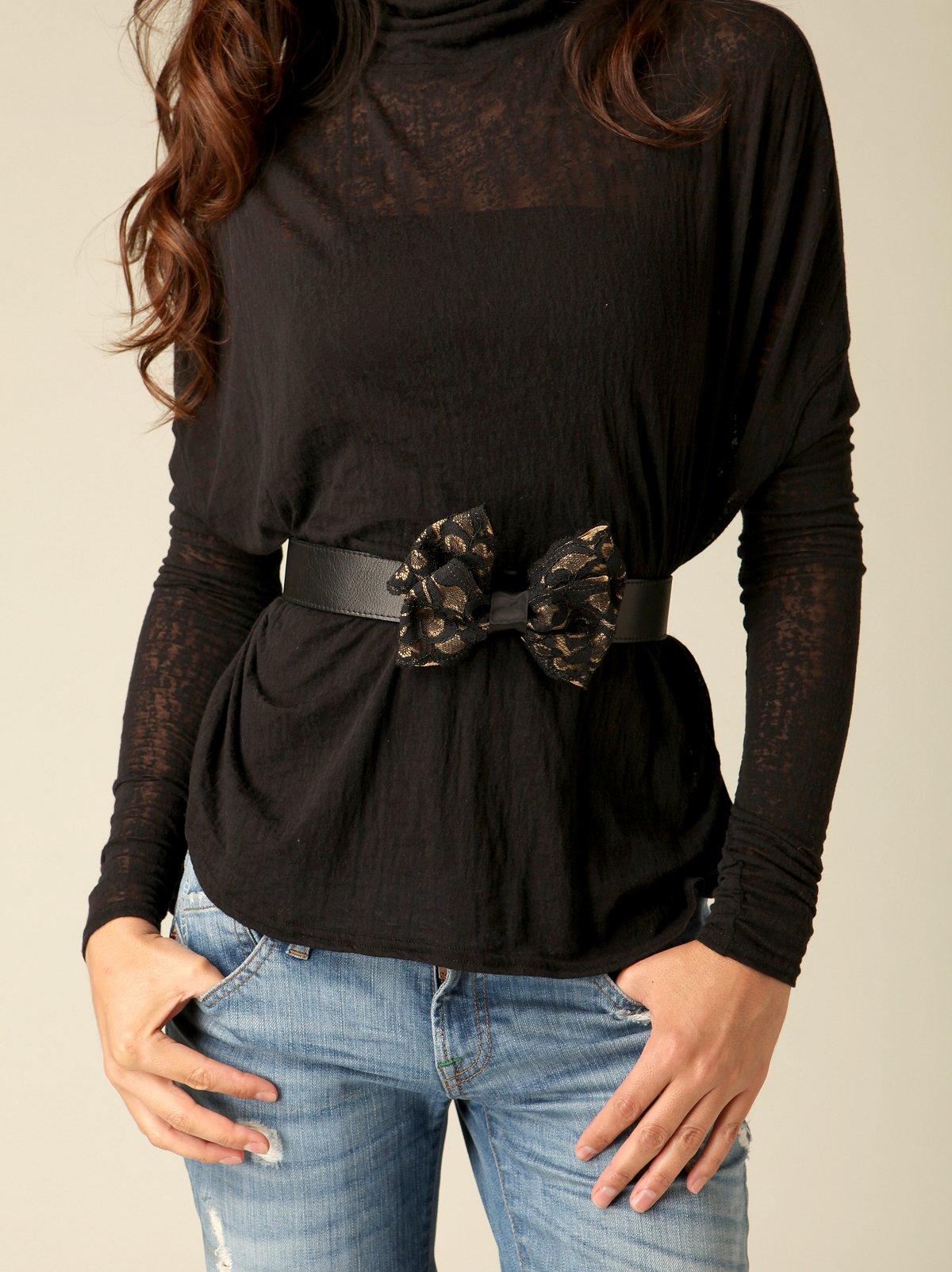 Lace Bow Belt