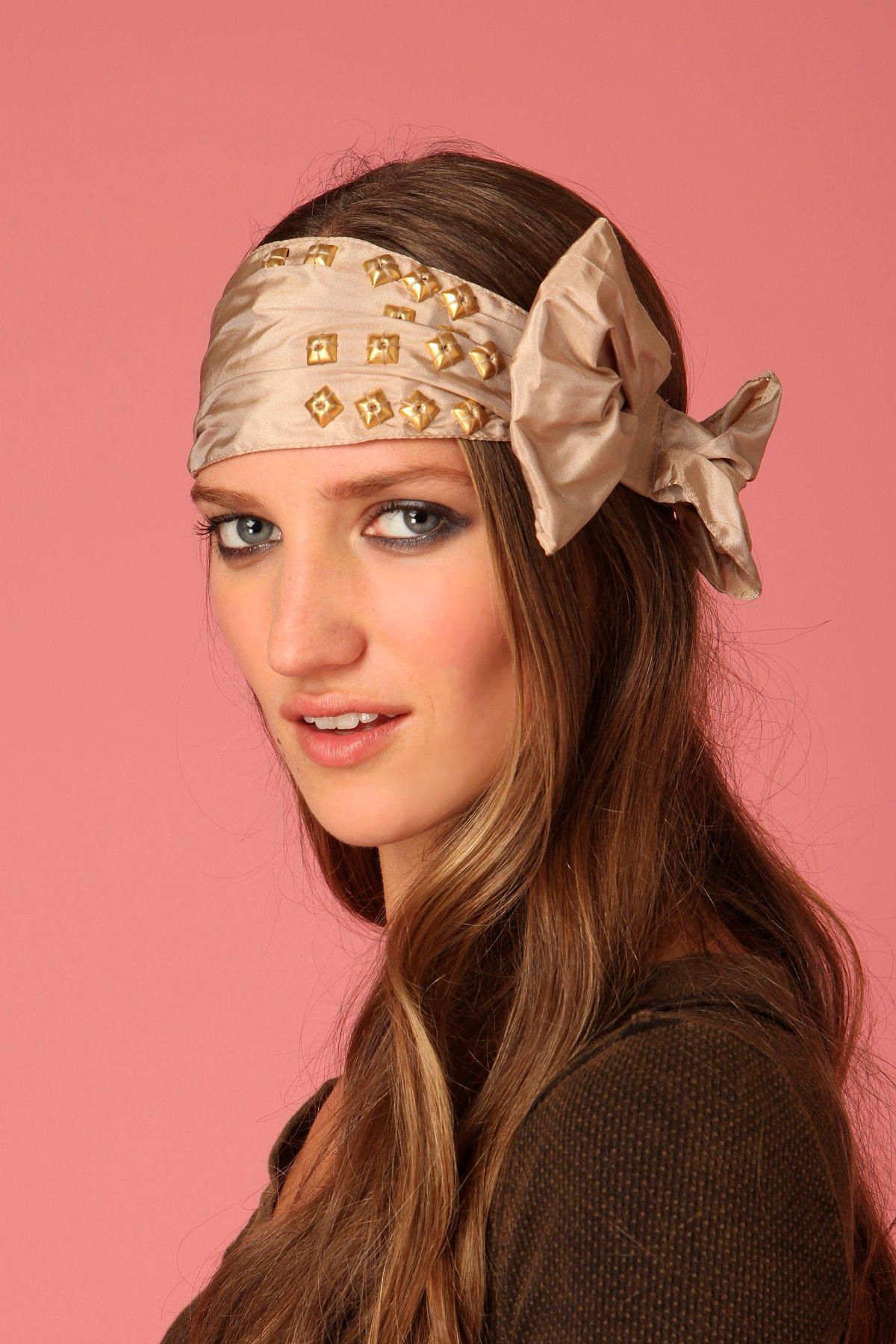 Studded Bow Headband
