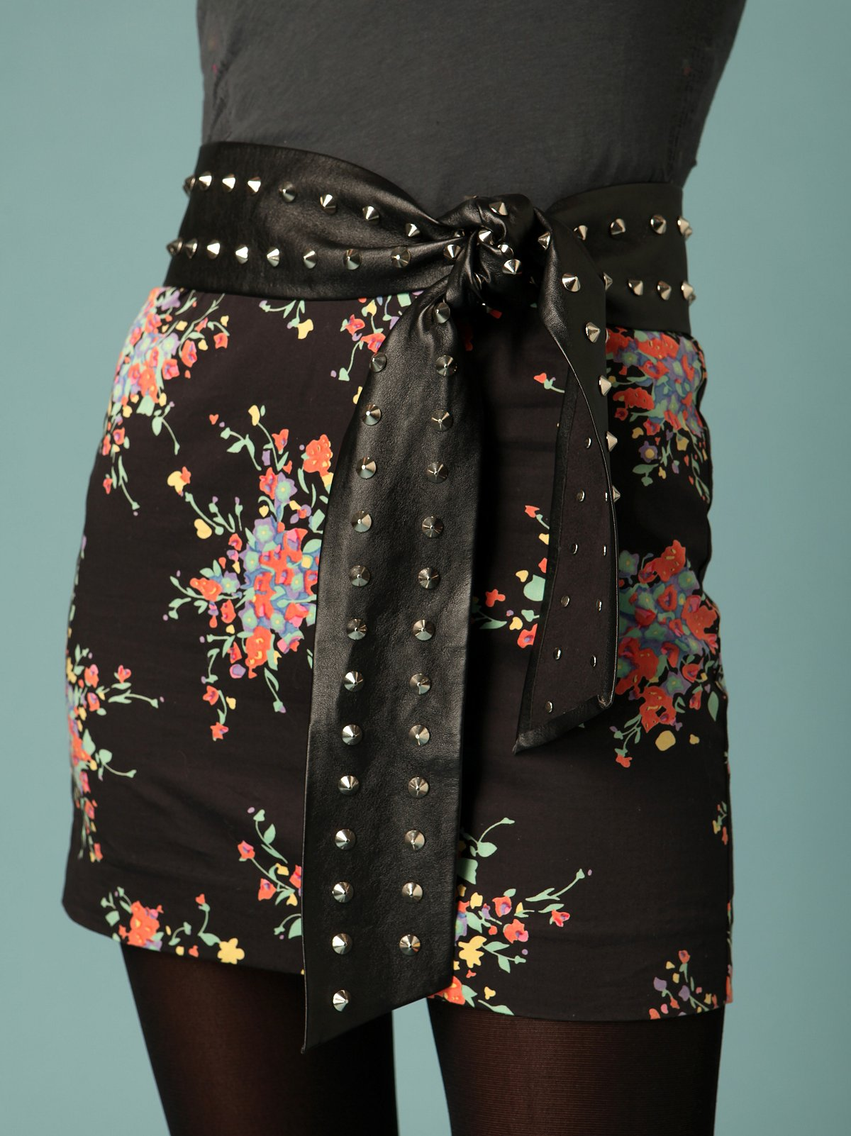 Studded Leather Sash