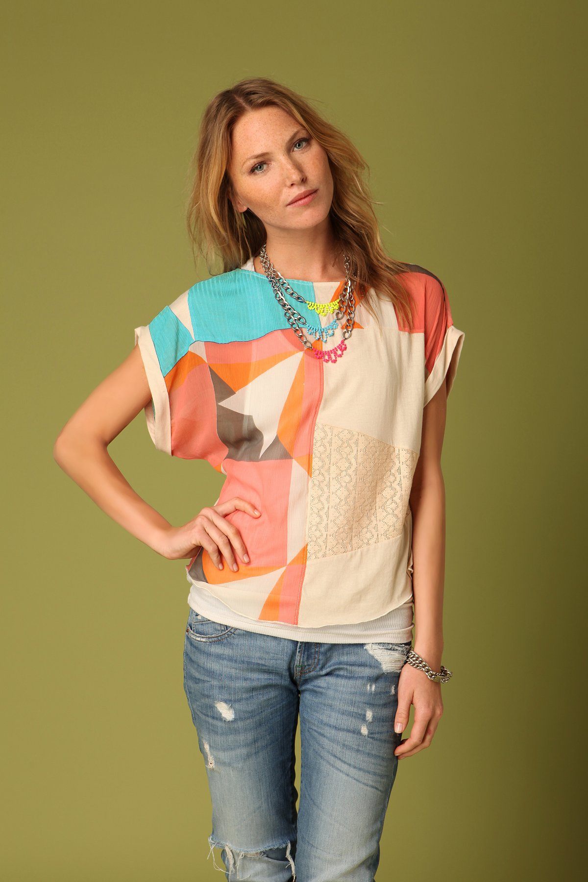 Colorblock Dolman Top