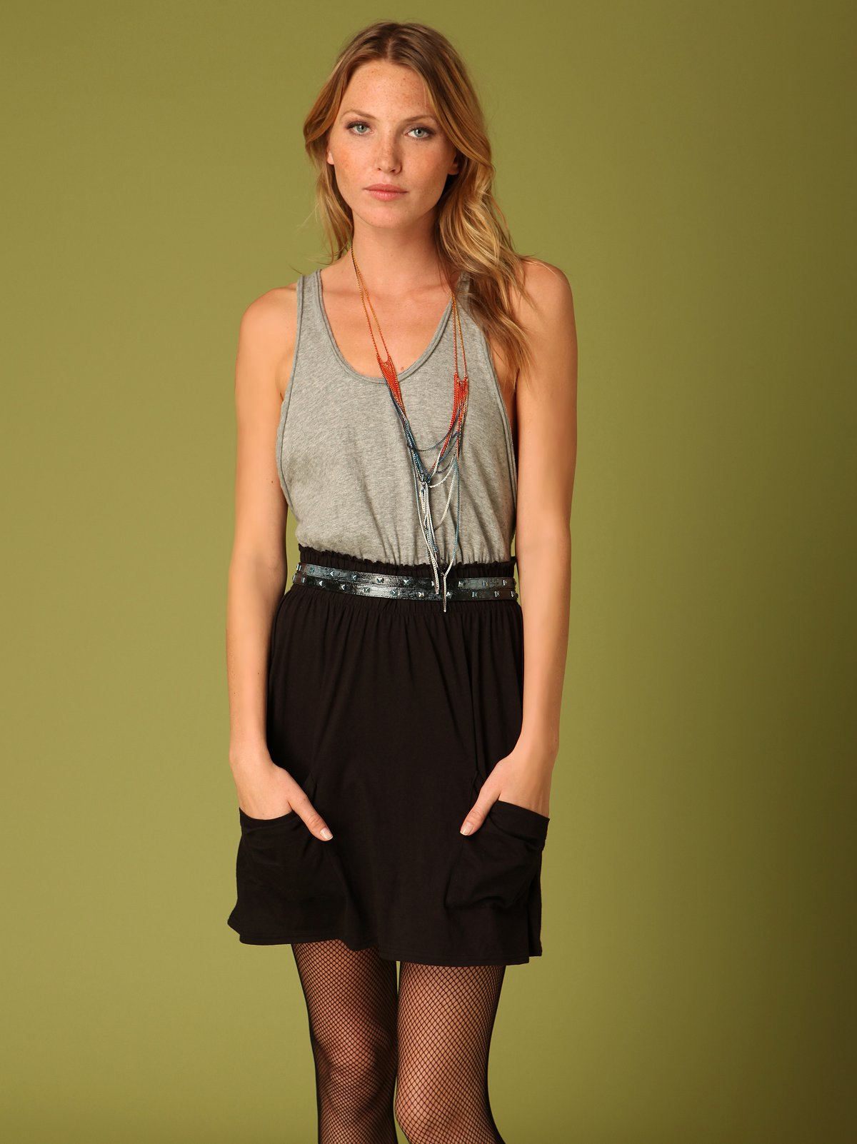 Color Block Tank Dress