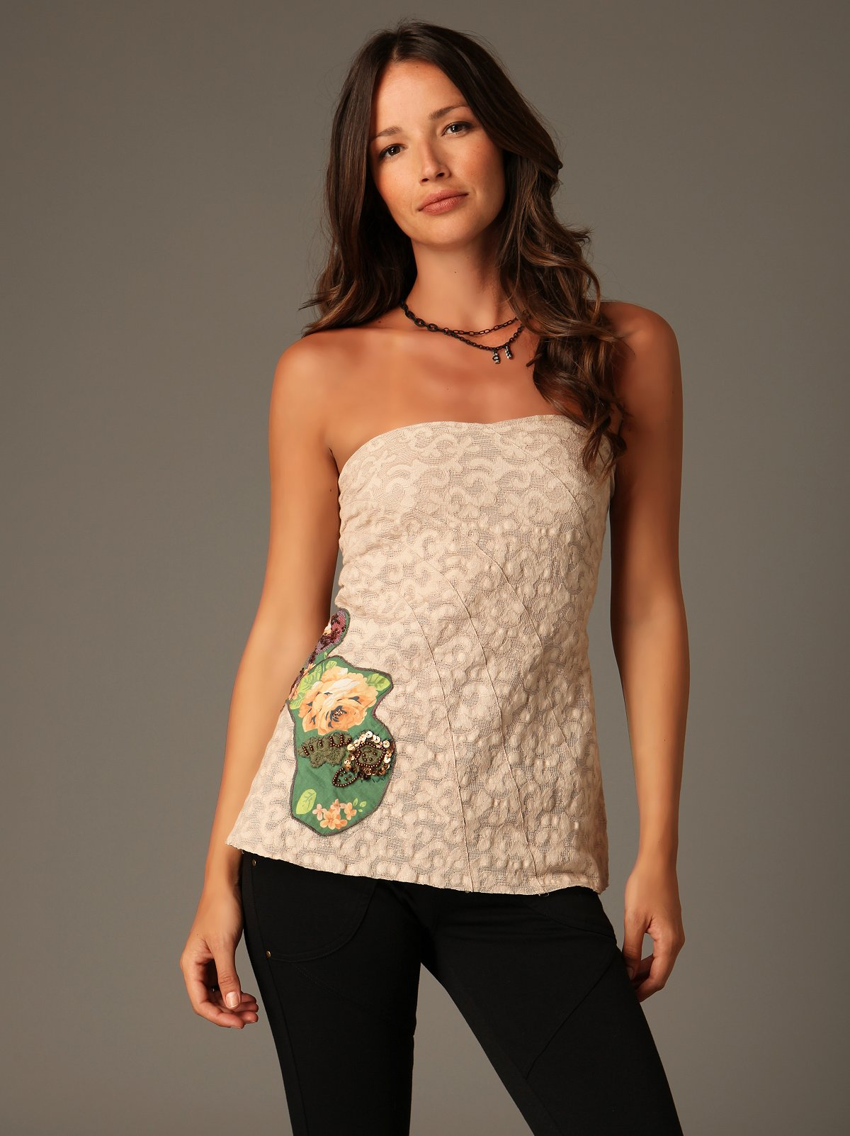 De Tierra Applique Tube Top