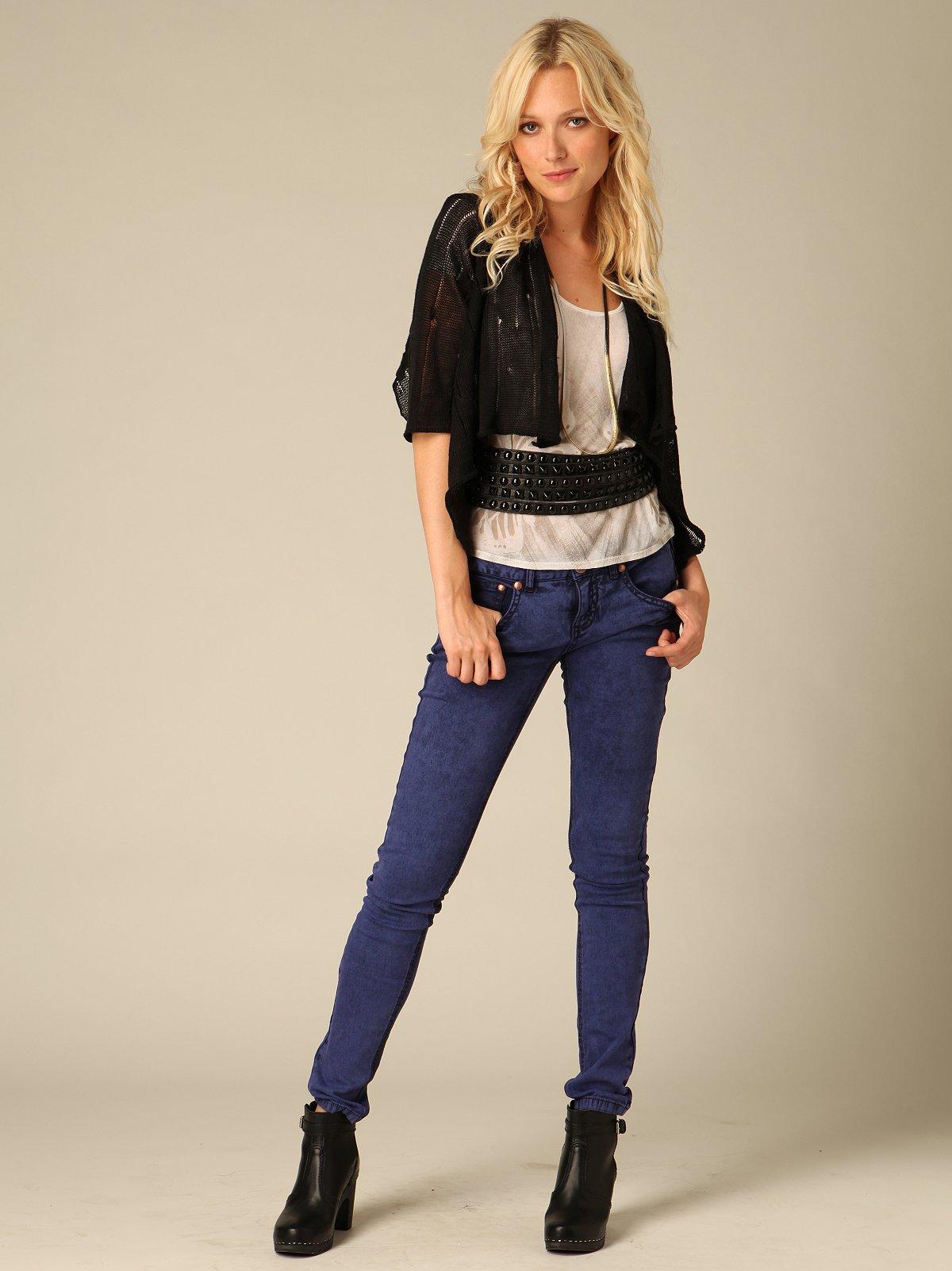 FP Purple Wash Super Skinny Jeans