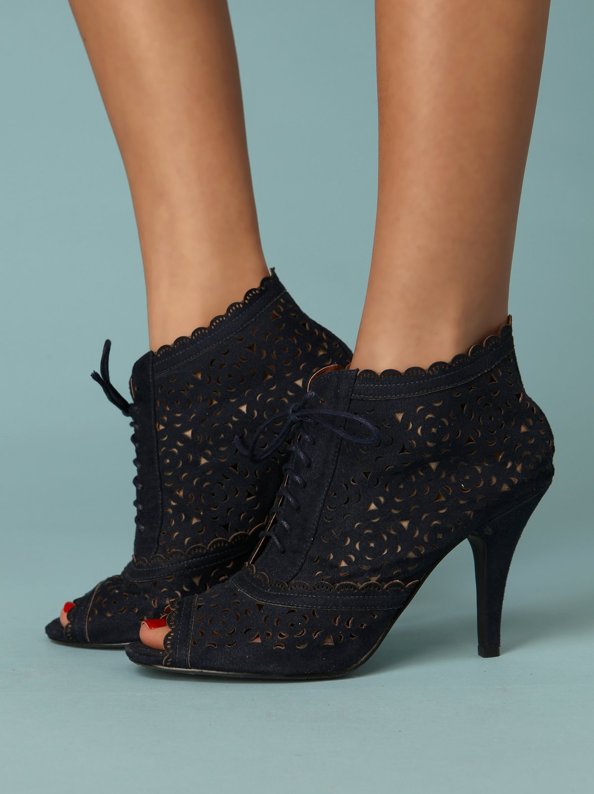Cut Out Eyelet Bootie
