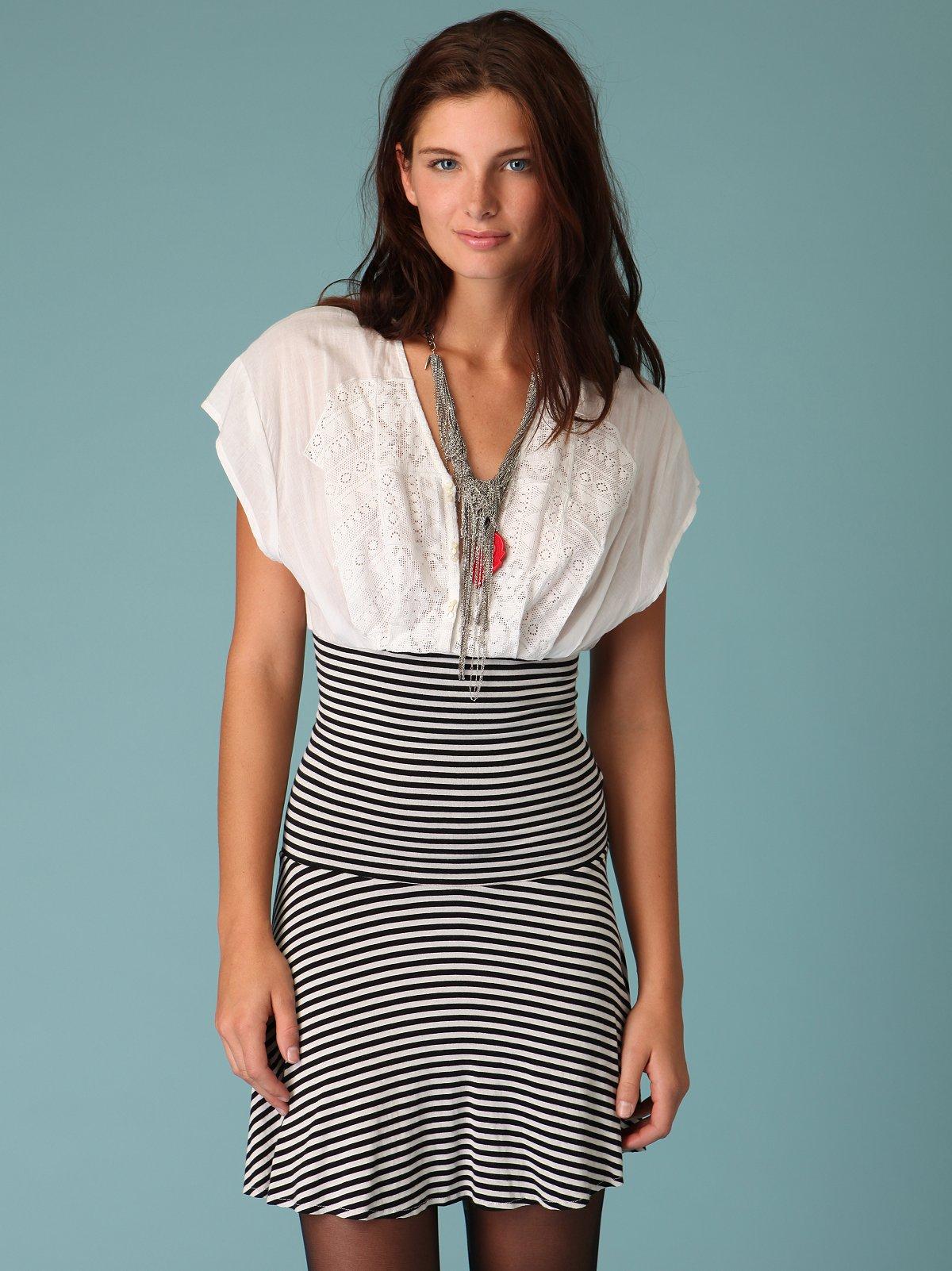 On The Radio Striped Dress