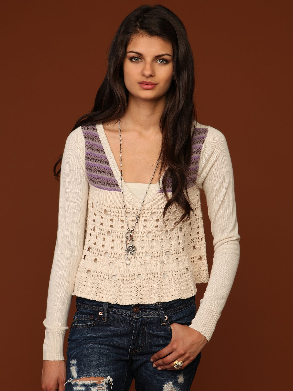 V Neck Fairisle Sweater