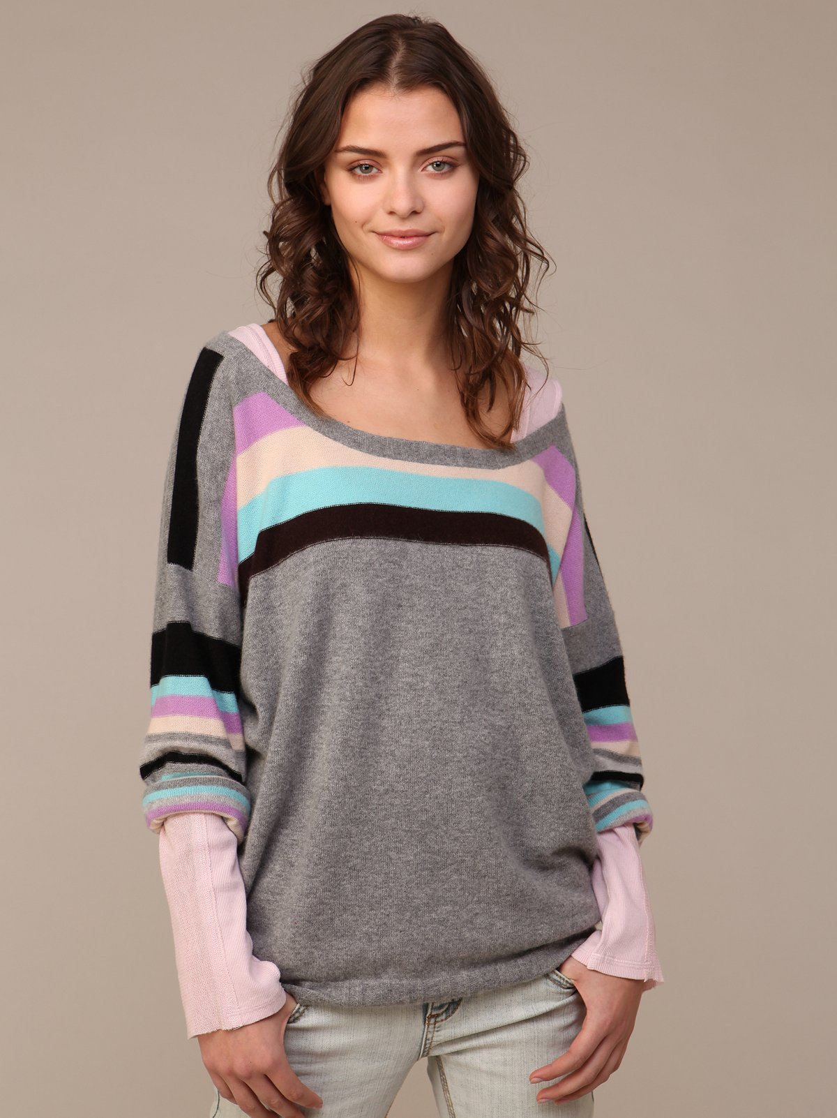 We The Free Cashmere Stripe Pullover